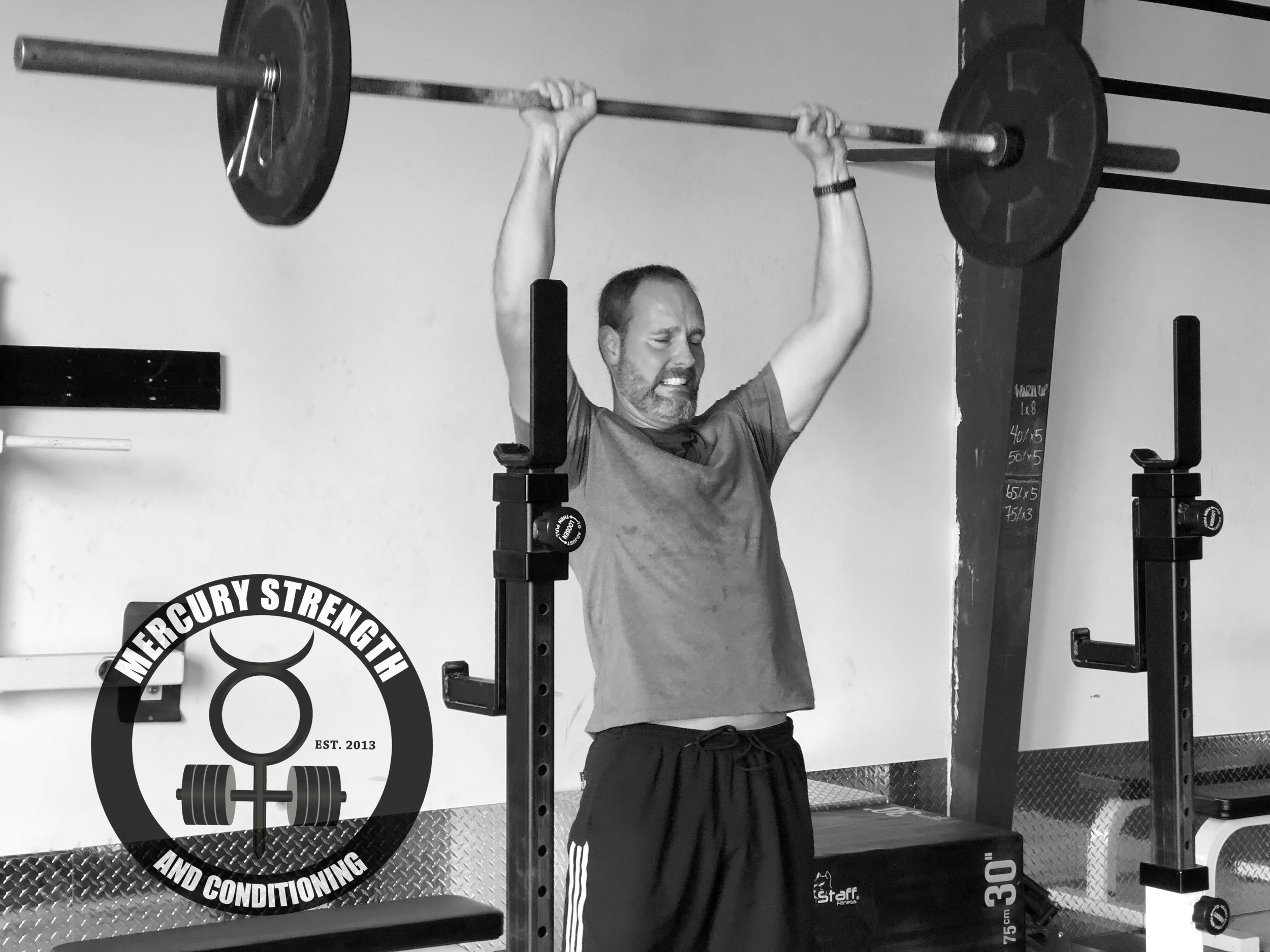 Andrew pushing through some thrusters