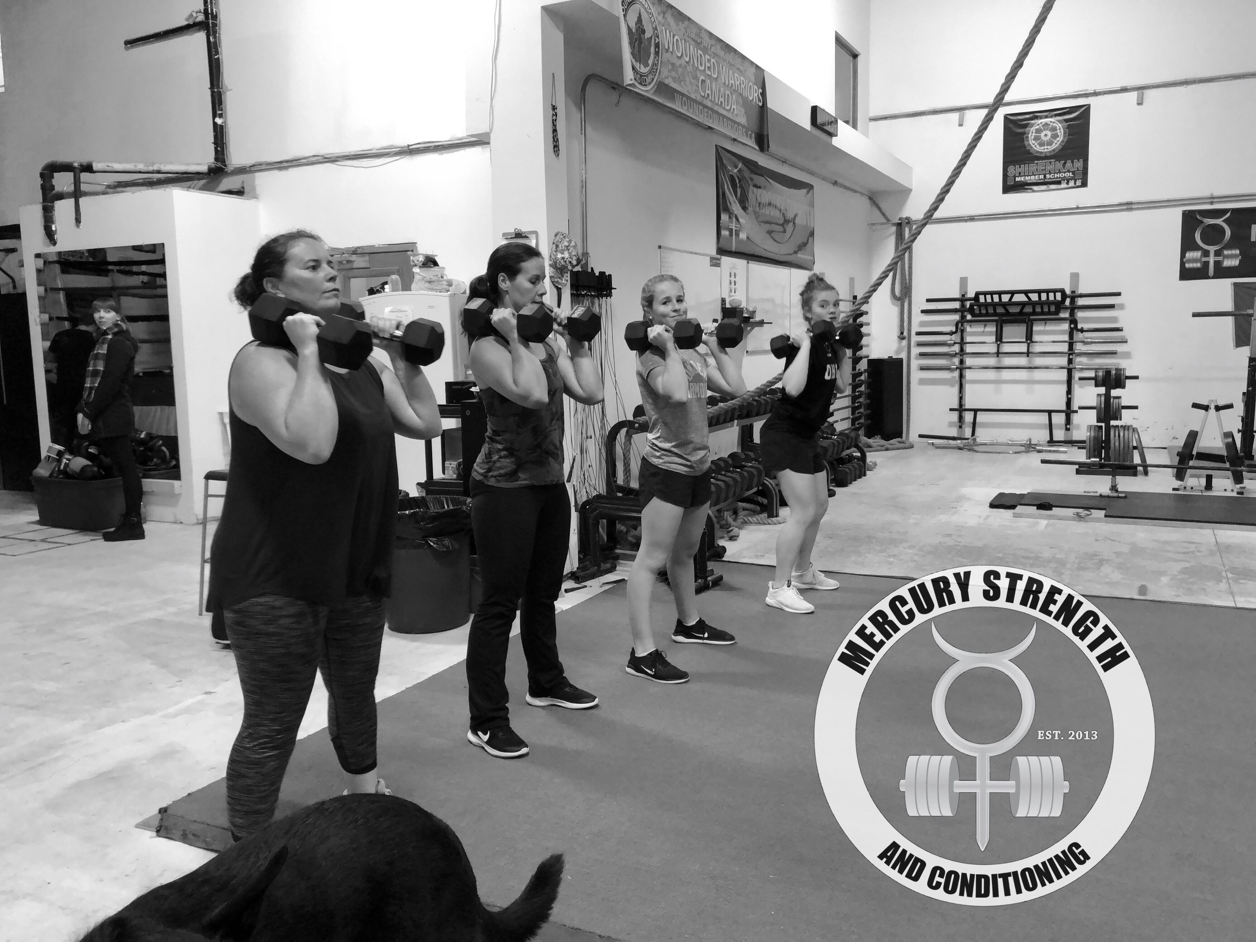 Gym-powerlifting-fitness-personal training-training-bootcamp-crossfit-kingston-kingston gym-kids-mercury-strength-conditioning-athlete-dumbbell-front squat