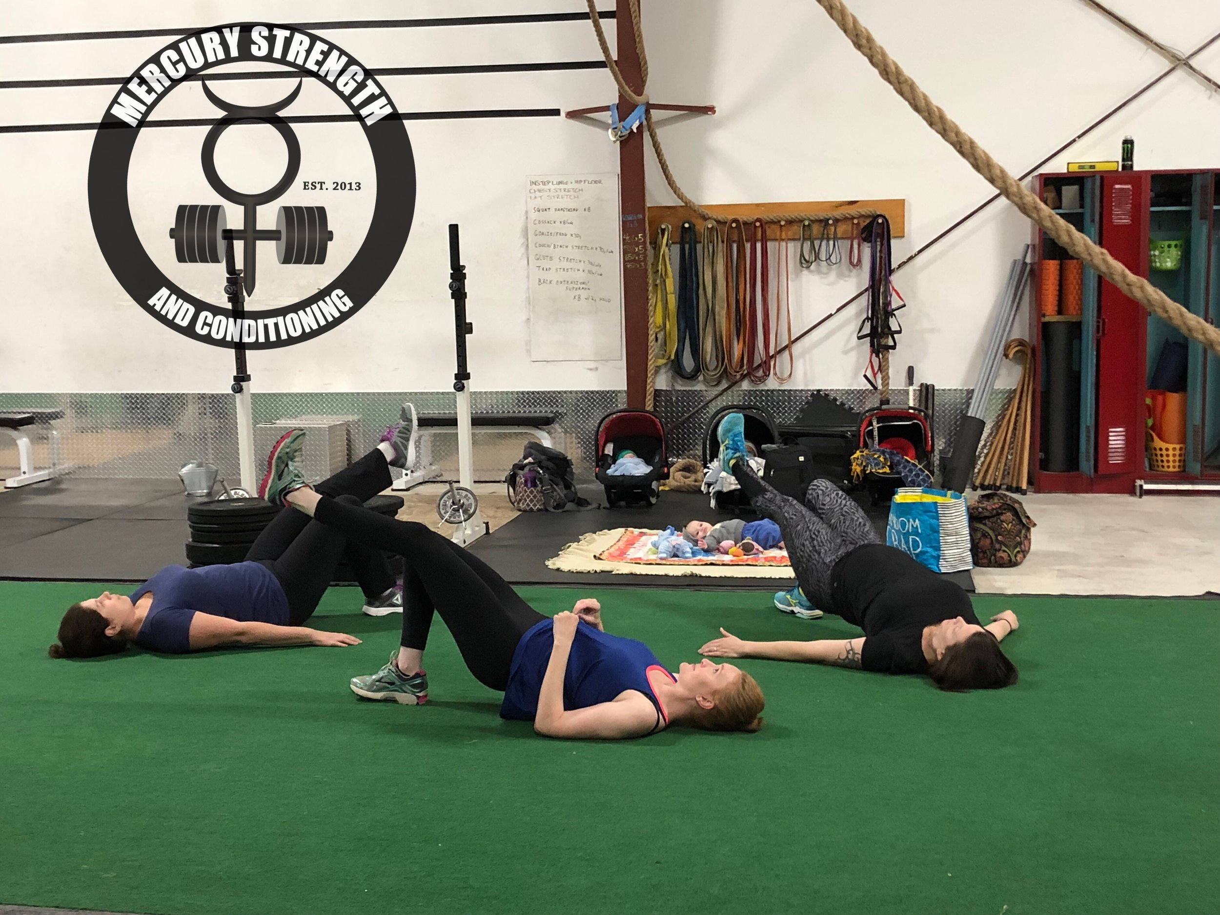 Our Move Your Bump ladies reclaiming their abs post-pregnancy. Come join our Move Your Bump program!