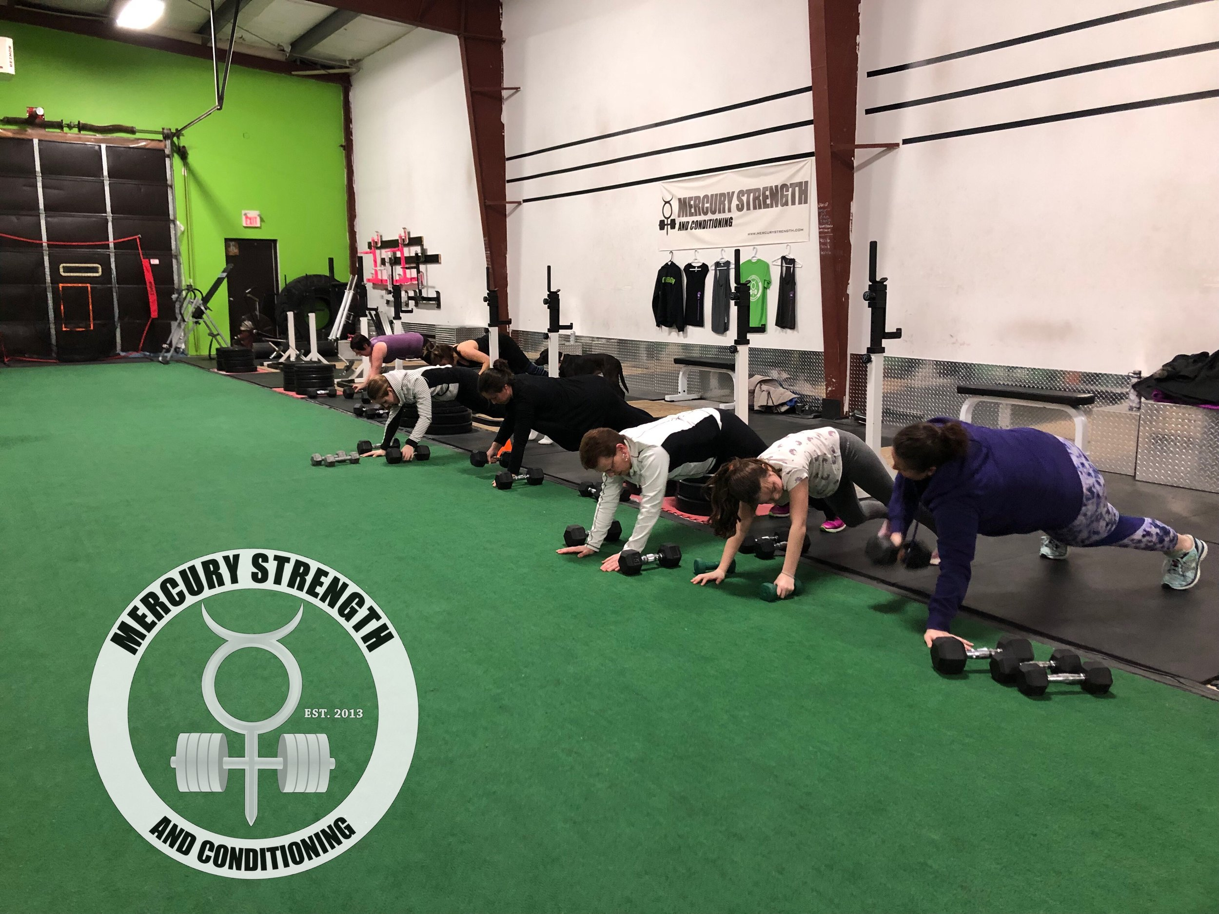 The 6pm crew pushing through some plank up to renegade rows