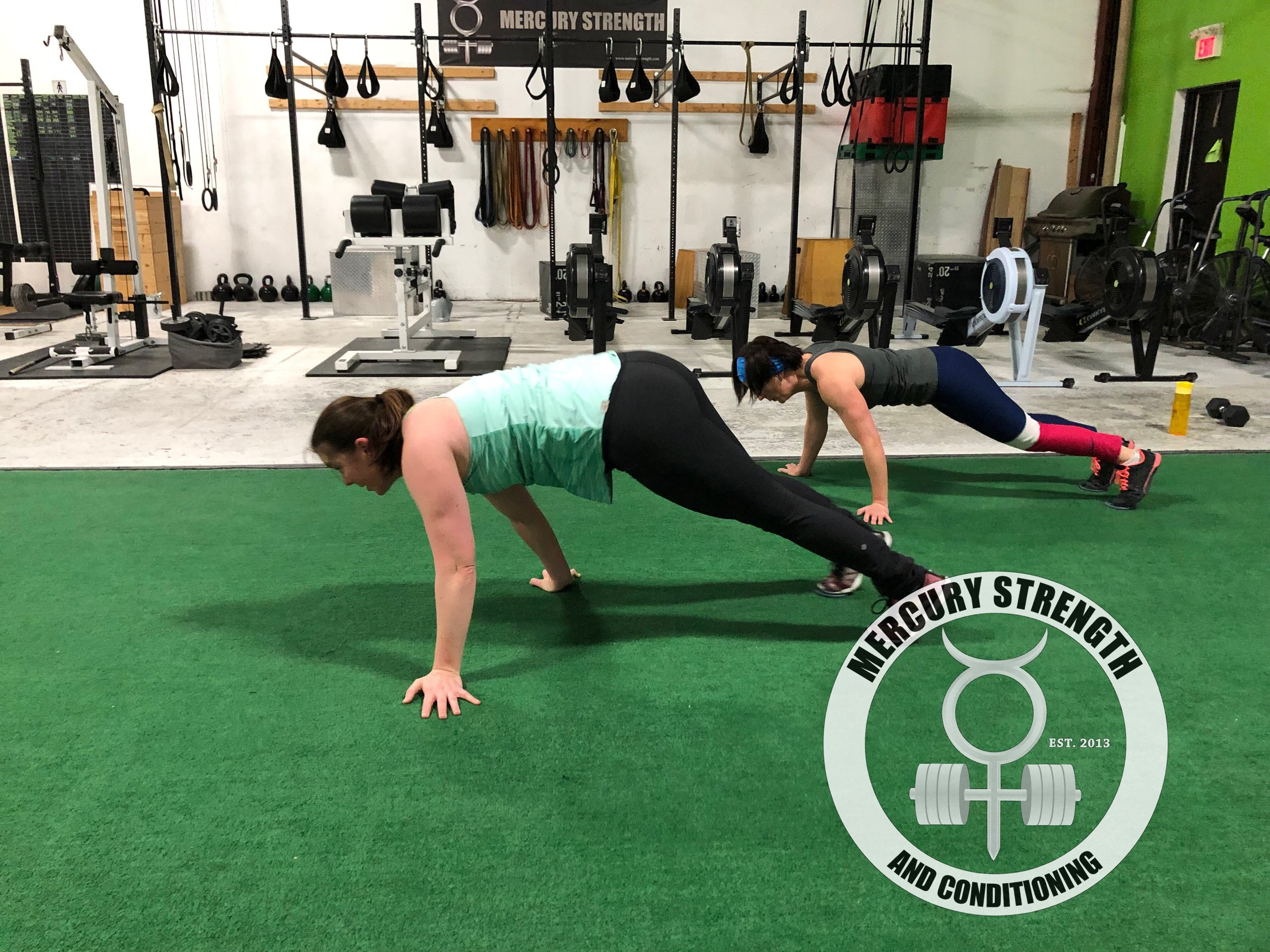 Katherine and Shawna with some plank walks