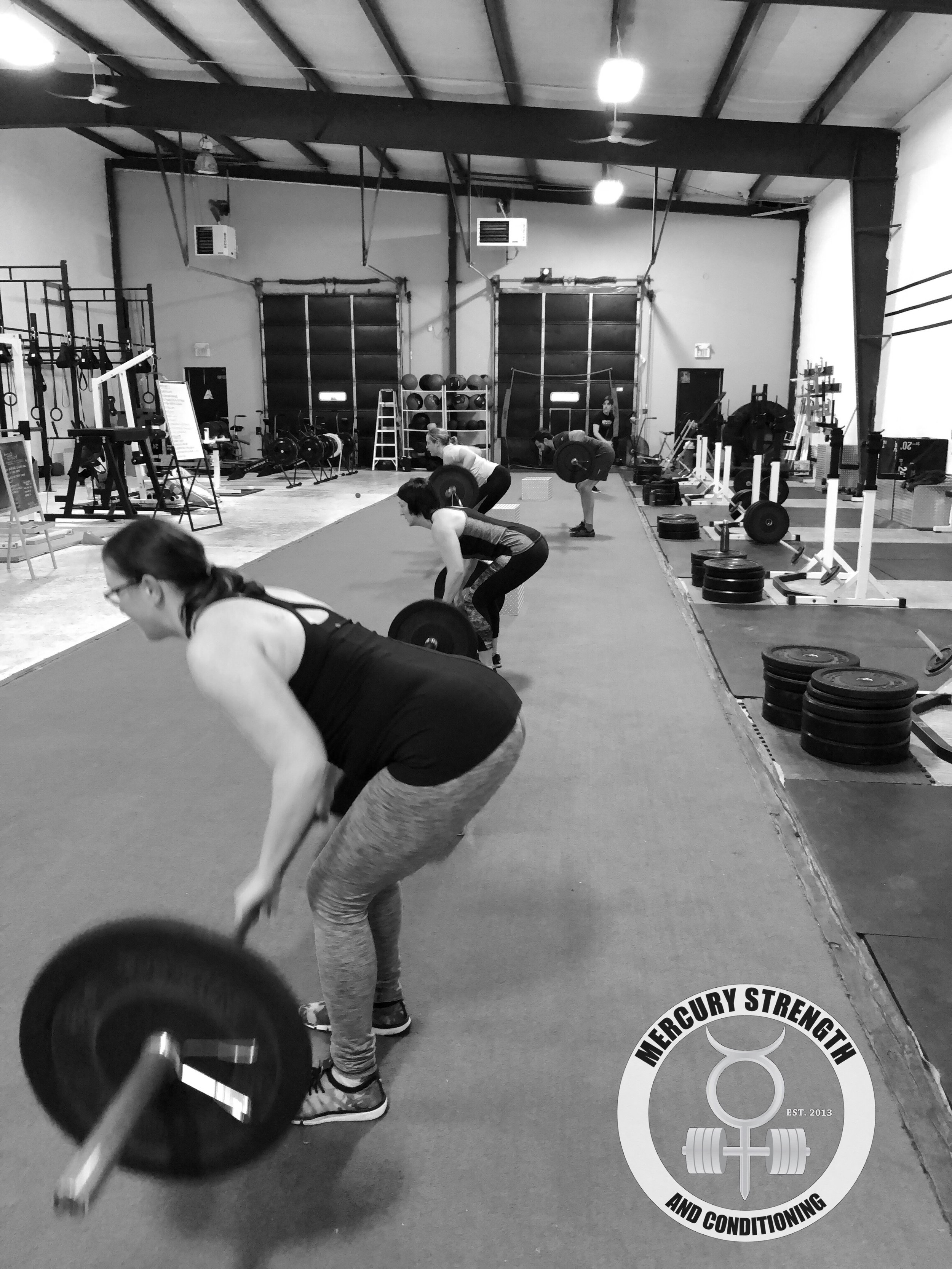 Some Pendlay rows to help strengthen the upper back