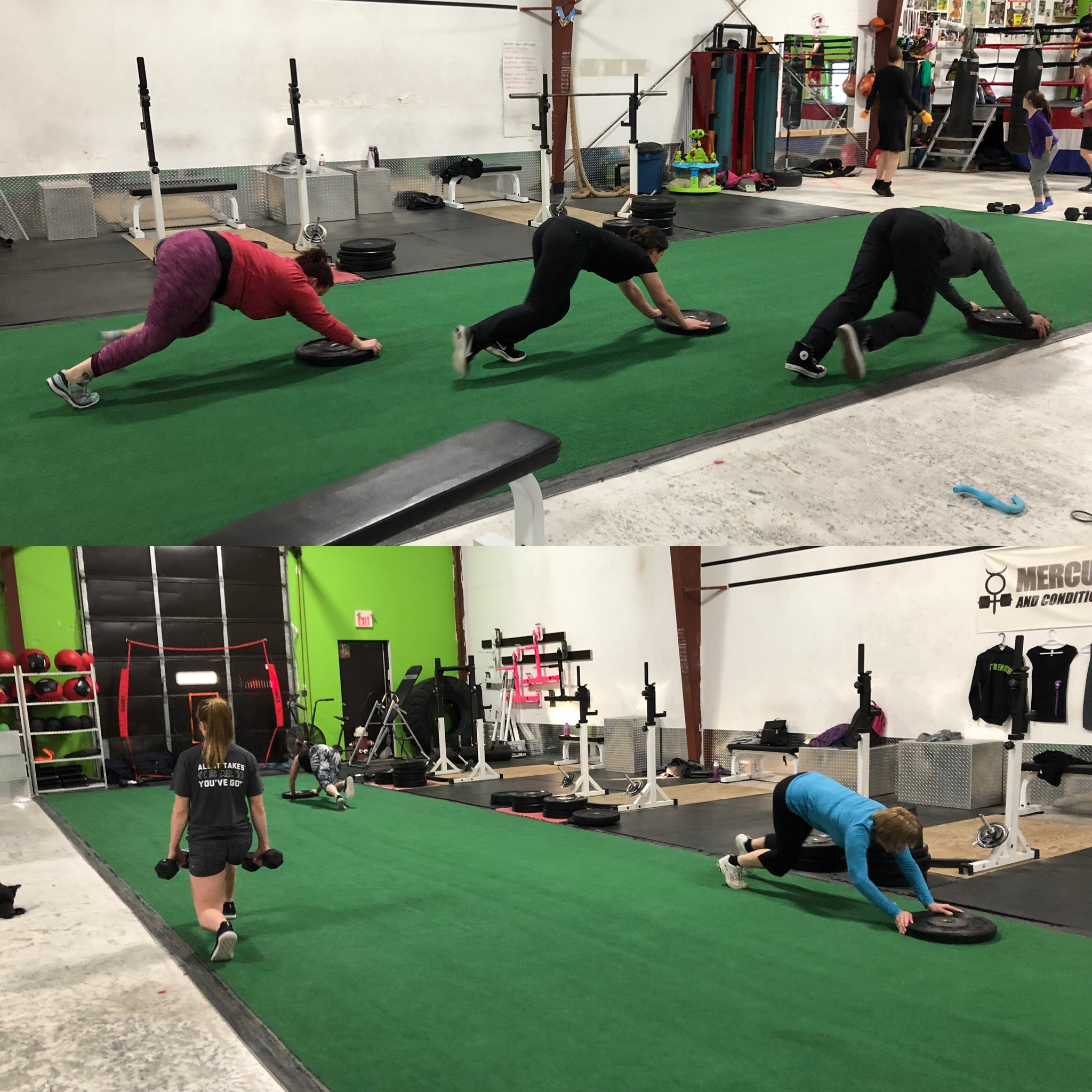 A busier 6pm session with some plate pushes and backward lunges