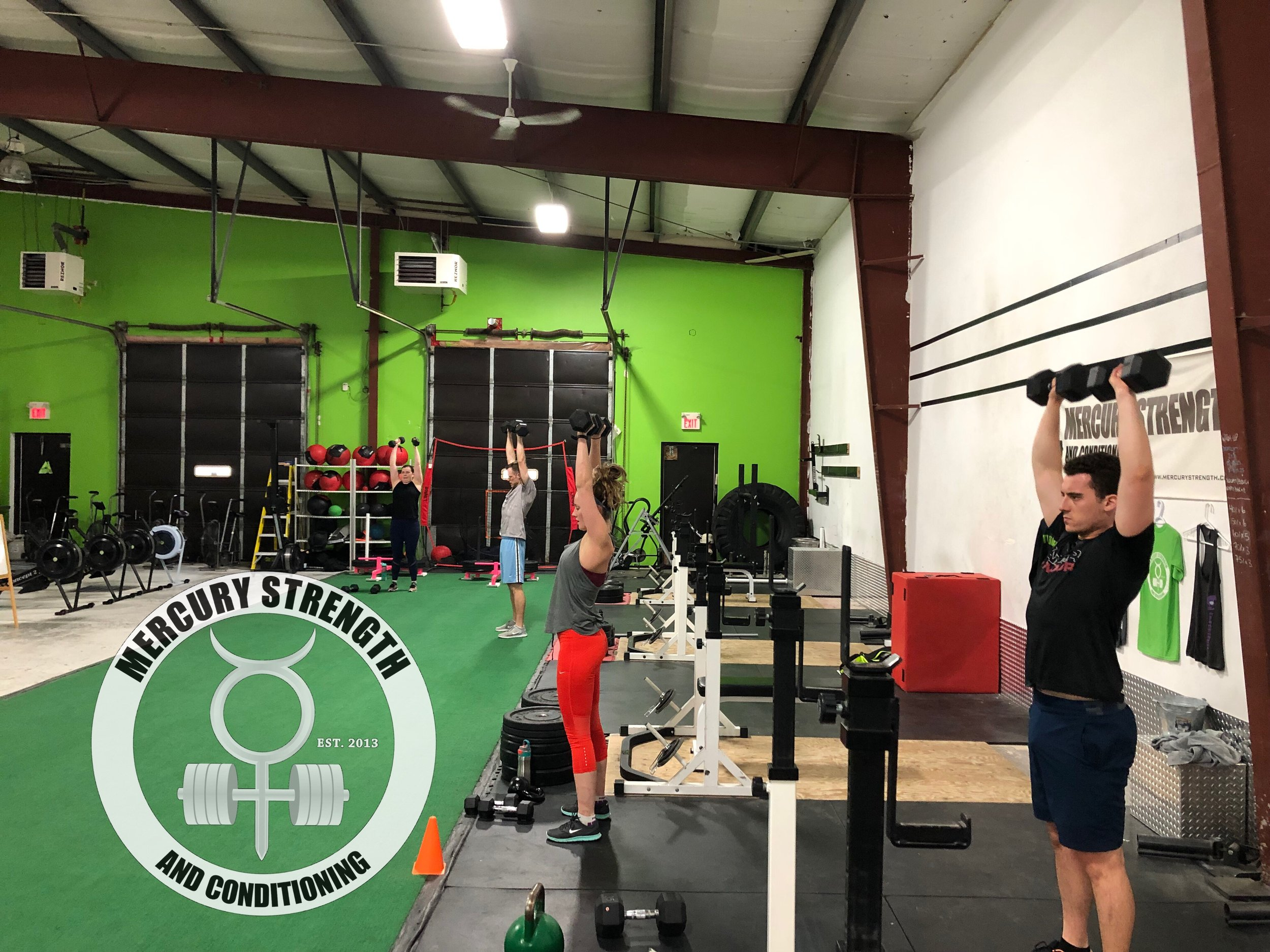 Gym-powerlifting-Olympic lifting-fitness-personal training-training-bootcamp-crossfit-kingston-kingston gym-kids-mercury-strength-conditioning-athlete-dumbbell-shoulder press