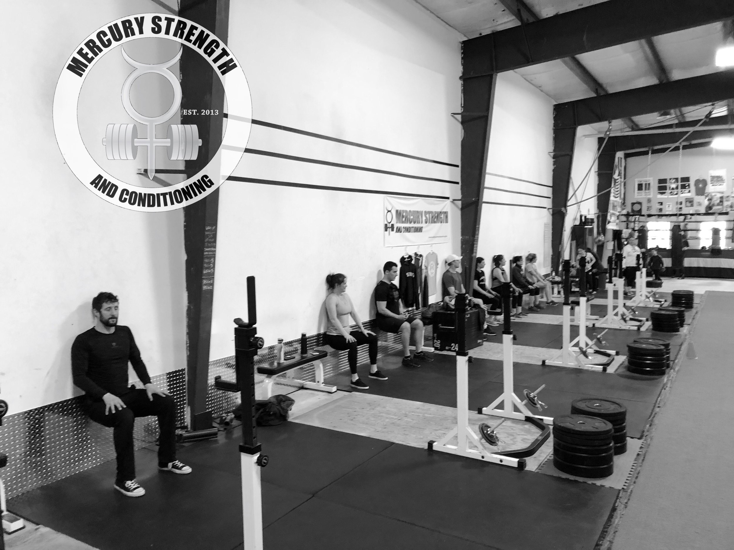 Gym-powerlifting-Olympic lifting-fitness-personal training-training-bootcamp-crossfit-kingston-kingston gym-kids-mercury-strength-conditioning-athlete-wall sit