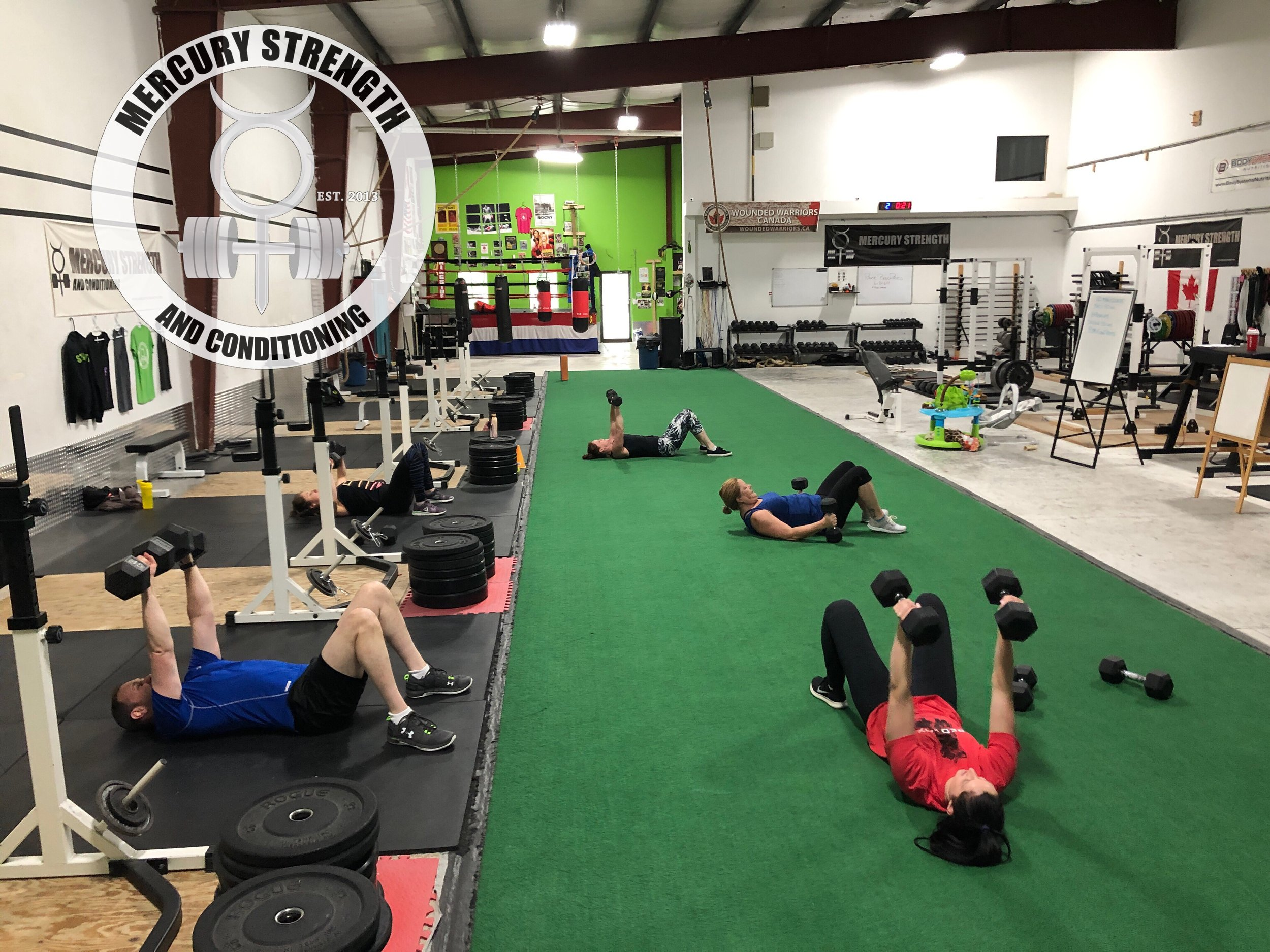 Gym-powerlifting-fitness-personal training-training-bootcamp-crossfit-kingston-kingston gym-kids-mercury-strength-conditioning-athlete-dumbbell-floor press