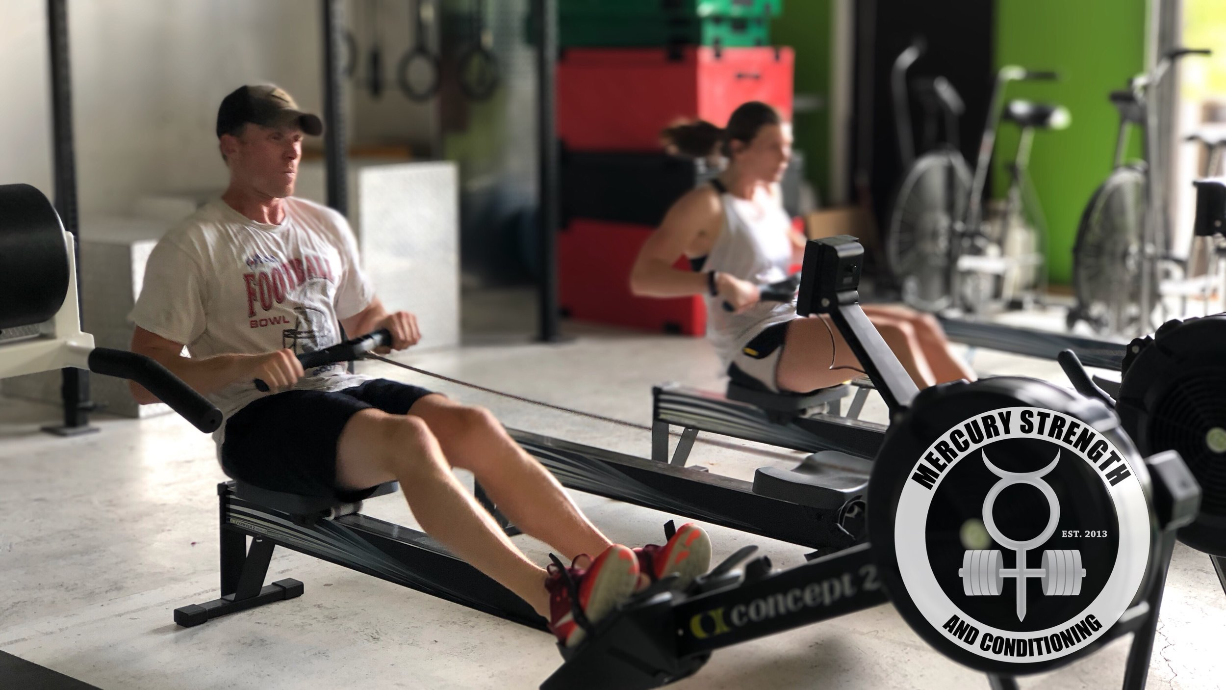 Alyssa and Kevin crushing a 2k row