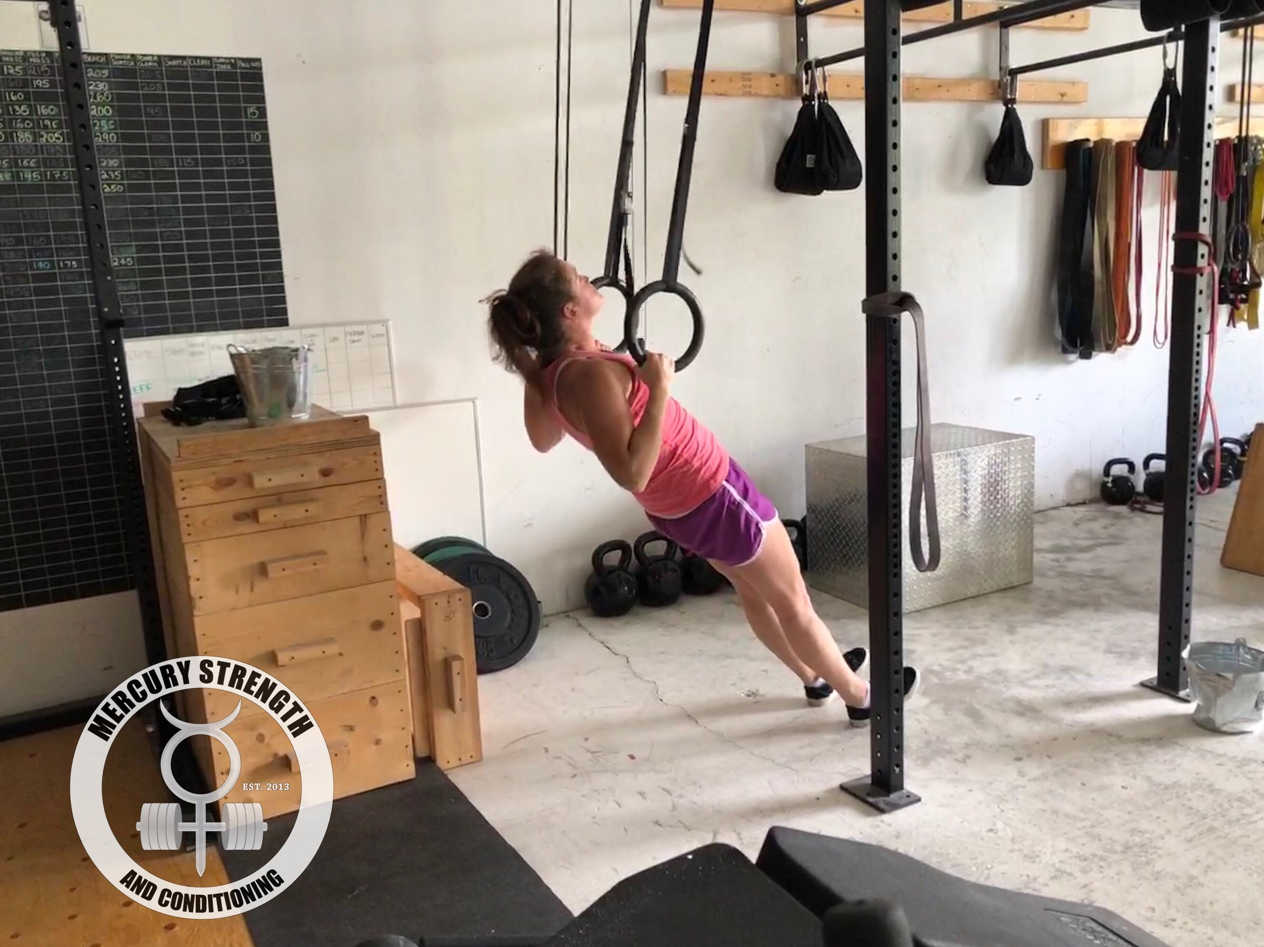 Cari staying rigid during some ring rows