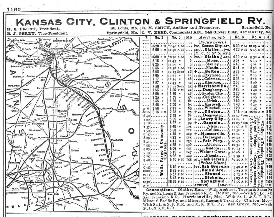 Image courtesy of TACNET/Henry Country Public Library  http://tacnet.missouri.org/history/railroads/KCCS_1916.jpg