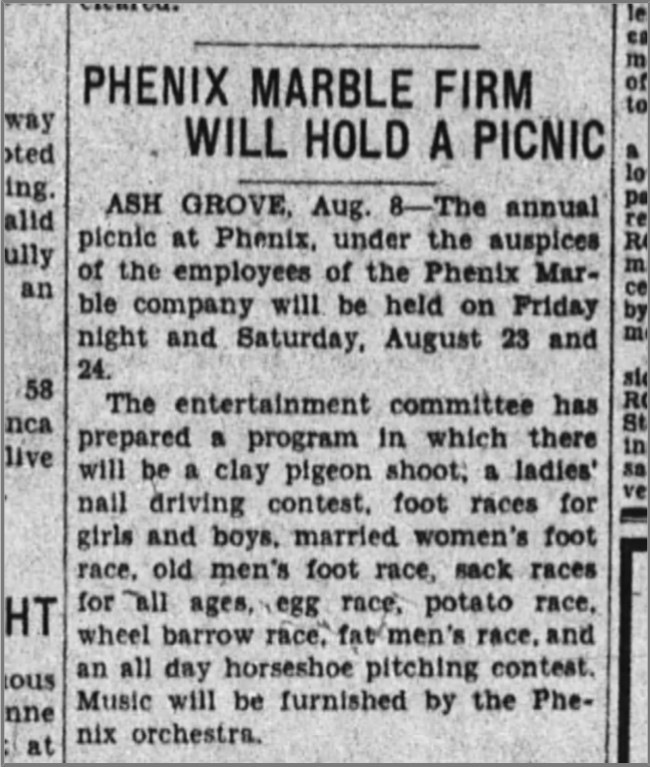 from  The Springfield Leader,  Springfield, MO 8 August 1929
