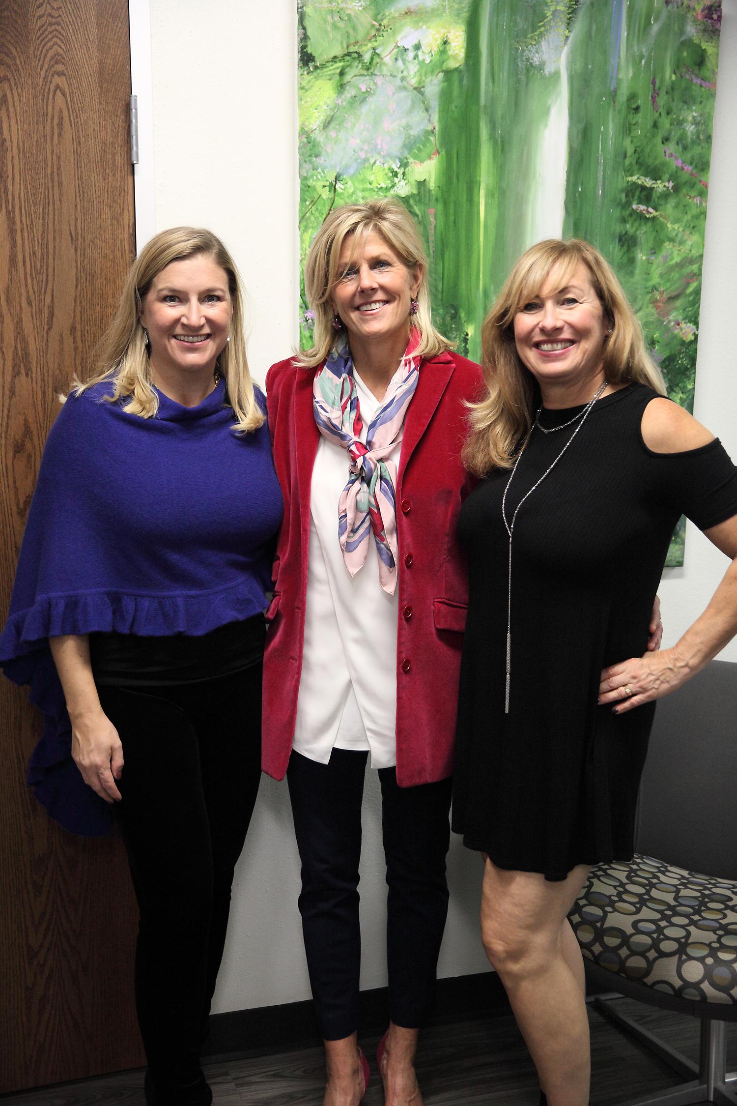 Lori Tisinai, Heidi Prom, and Debbie Pickus