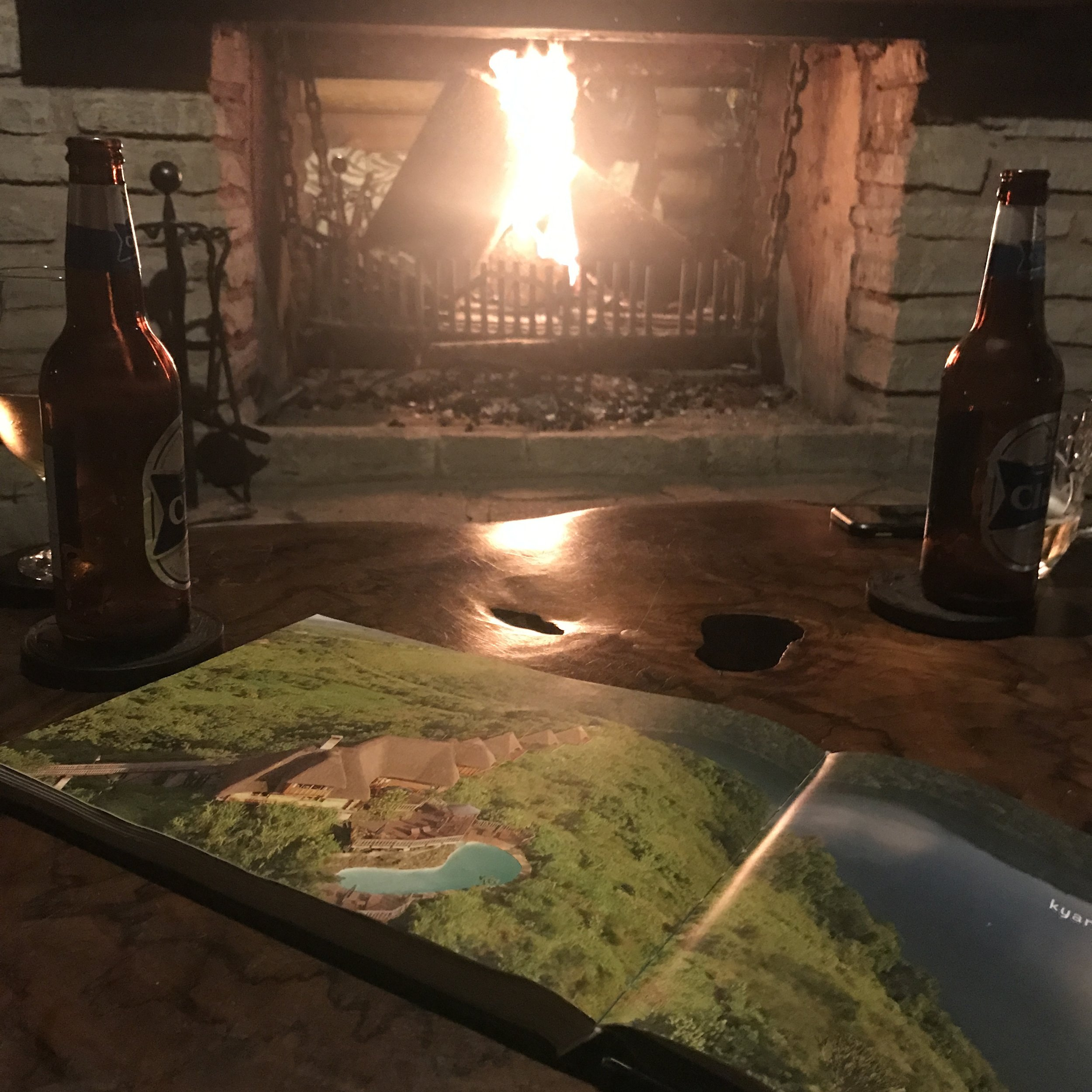 Spend evenings with beers by the fire