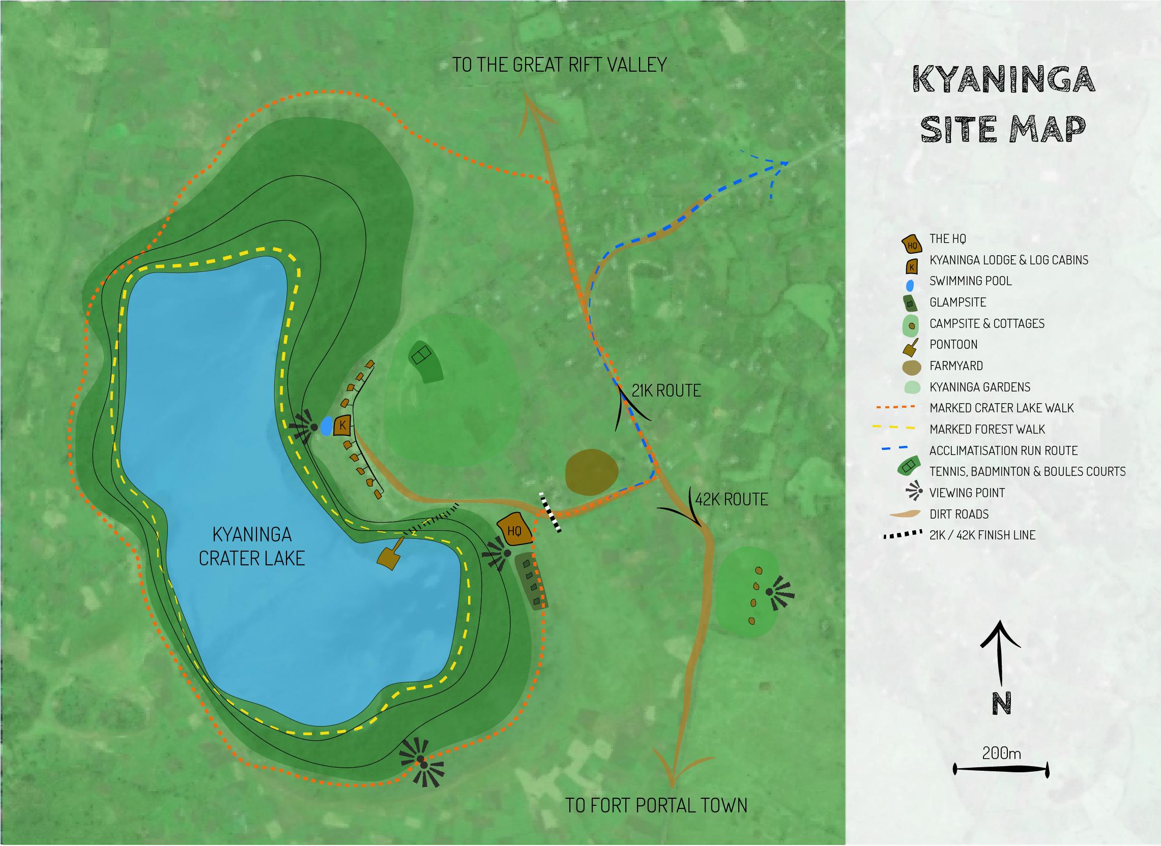 Map of RiftMaz Marathon HQ, Uganda