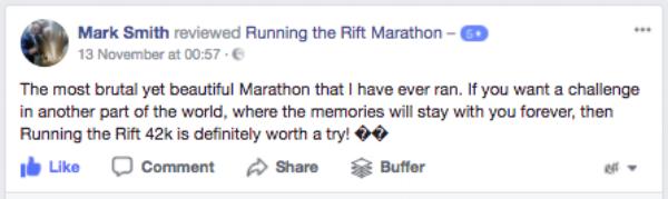 Running the Rift Marathon, Uganda, Review