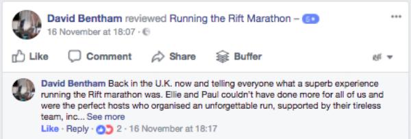 Running the Rift Marathon, Uganda, Reviews