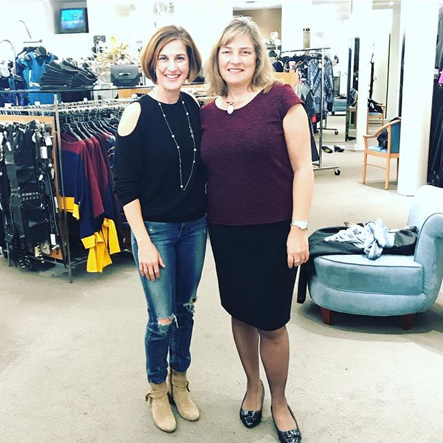 Had so much fun working with Christine today at @fredastoronto! #showyourself #shopping #style #toronto