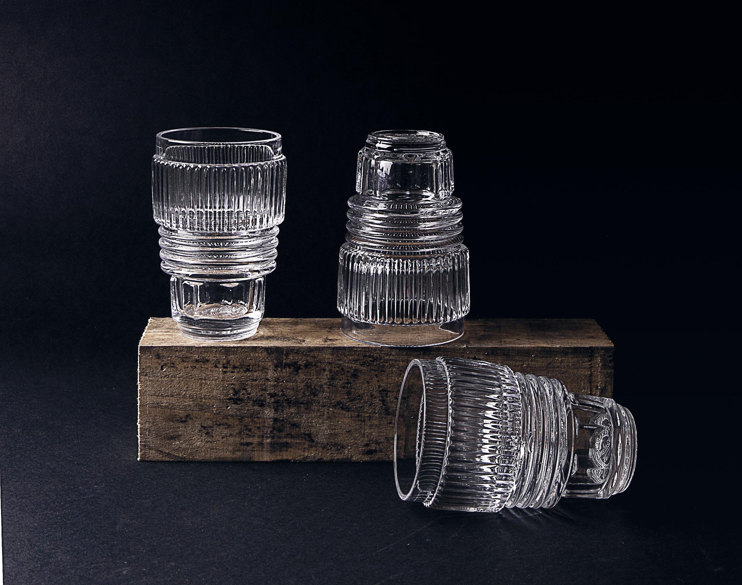SET OF 3 DRINKING GLASSES - LARGE
