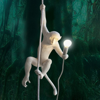HANGING MONKEY LAMP WITH ROPE