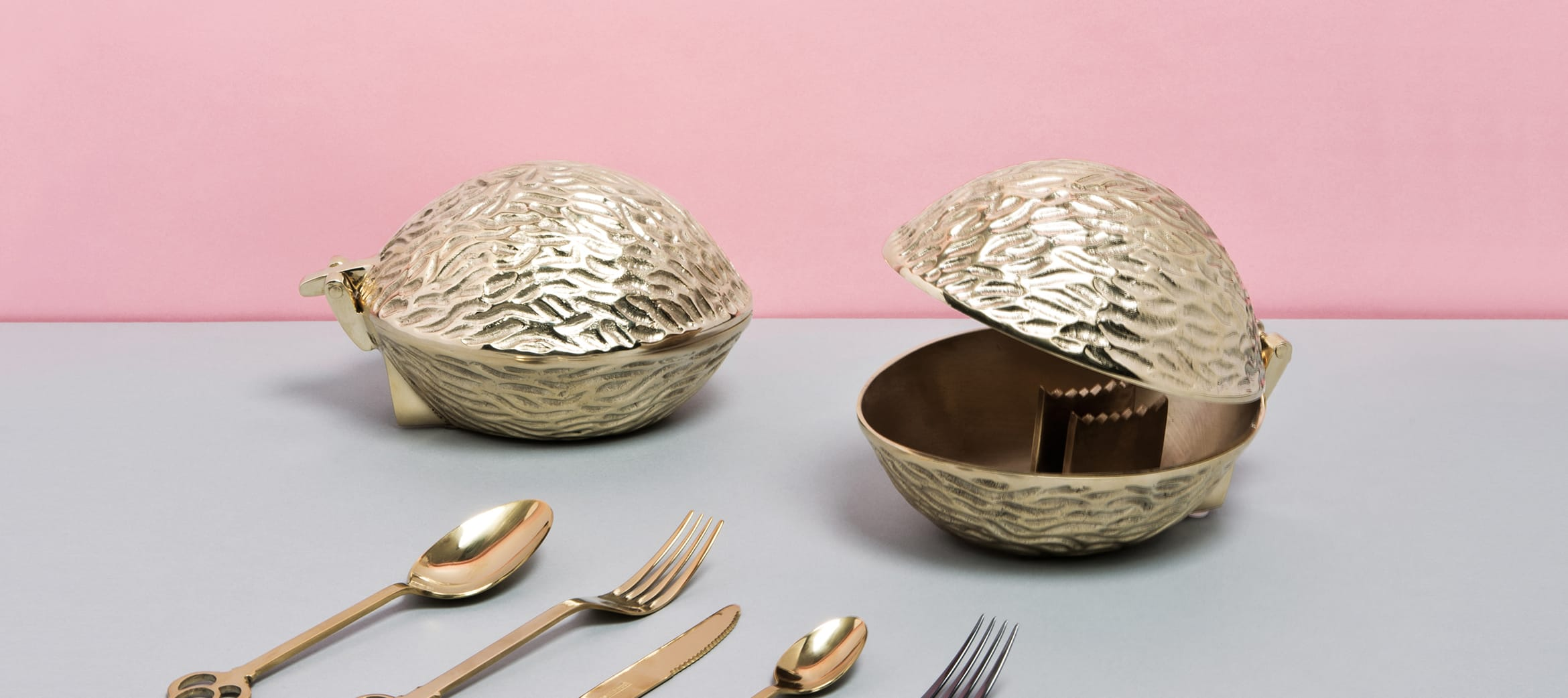 The incredible solid brass Noix nut-cracker by Seletti