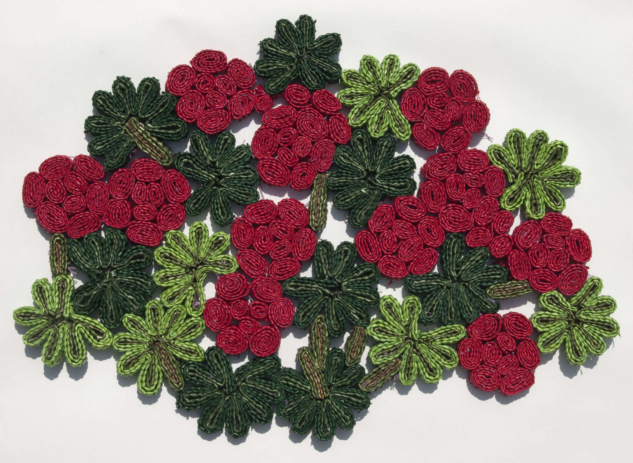 Flowers make a black day bright. Florigraphie pot mat From Seletti