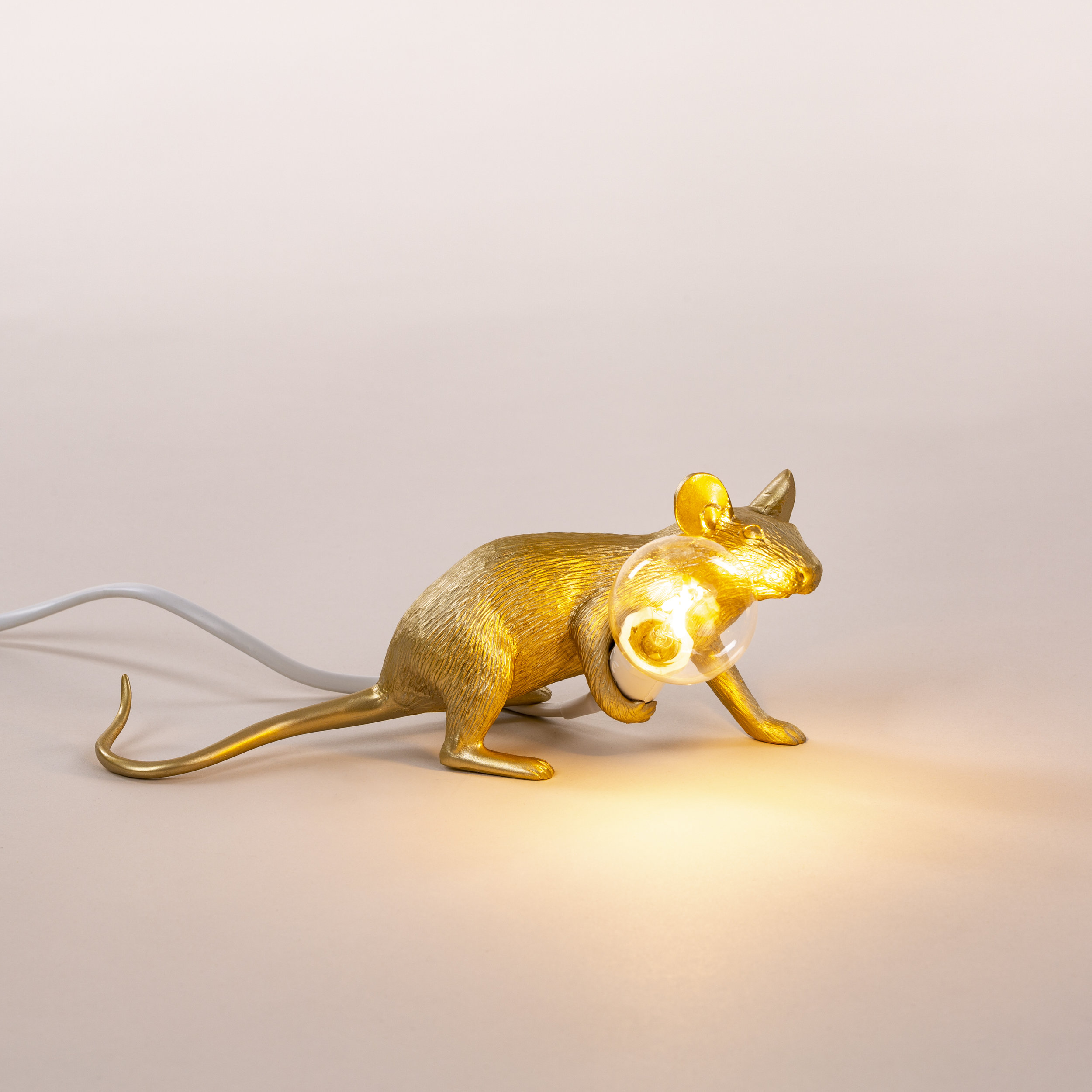 LIMITED EDITION GOLD MOUSE LYING DOWN  R3 220.00 incl VAT