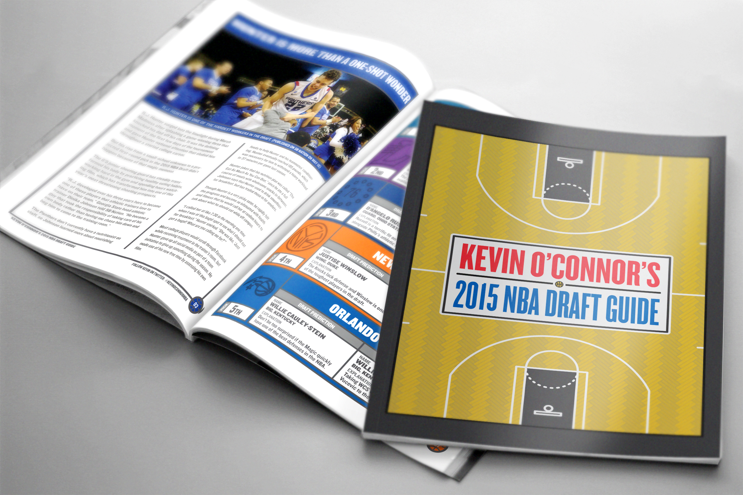 Cover design with an illustration of The Barclays Center, which hosted the 2015 NBA Draft.