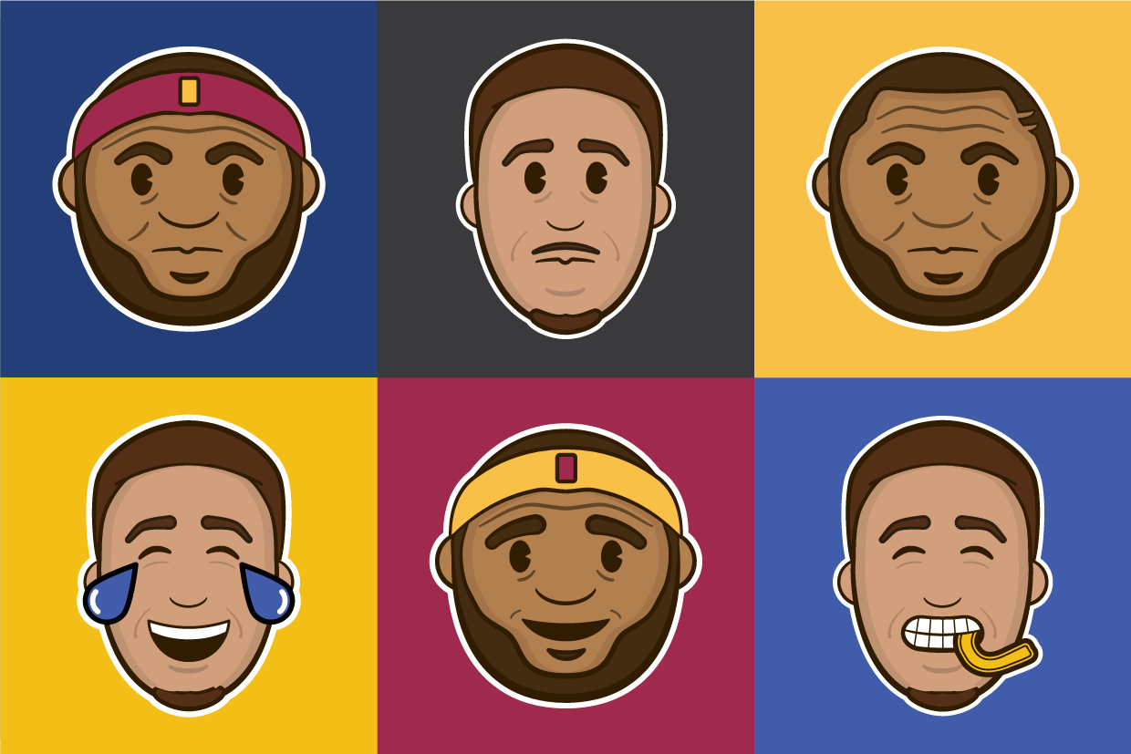 2016 NBA All-Star Game Emojis -  Sample emojis created for the NBA of Steph Curry and LeBron James for social media promotion of the All Star Game.
