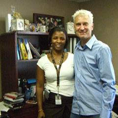 Iris Houston and Peter Mars at Elvis Presley offices.