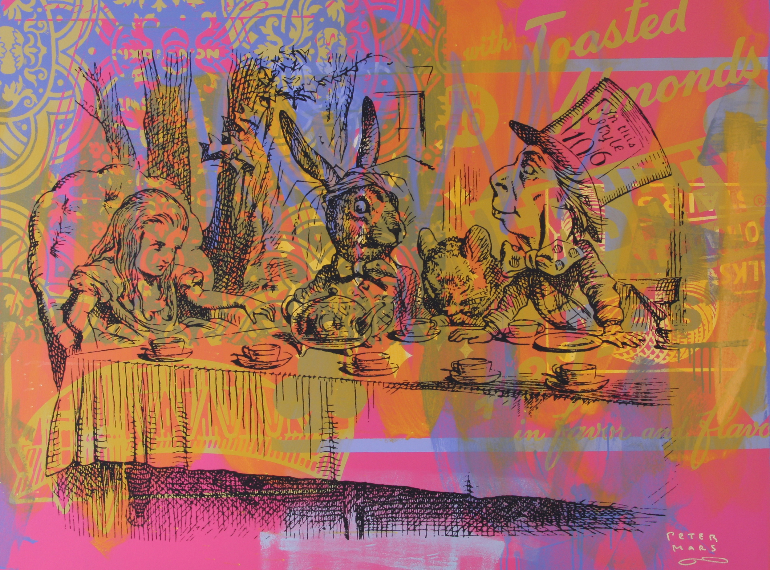"Take Some More Tea , Peter Mars, American Pop Art, 48x60"""