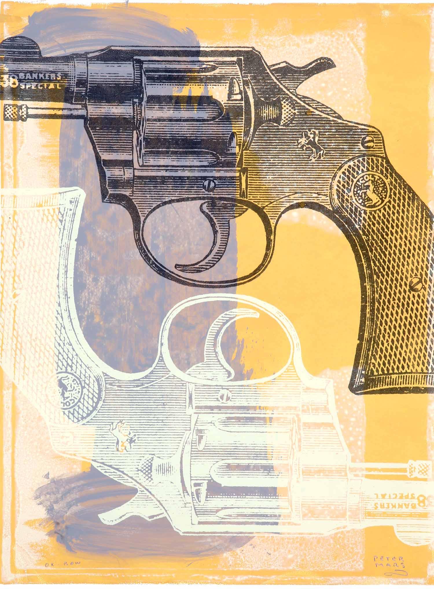 "Dillinger in Chicago,    Peter Mars, American Pop Art, 30x40"""