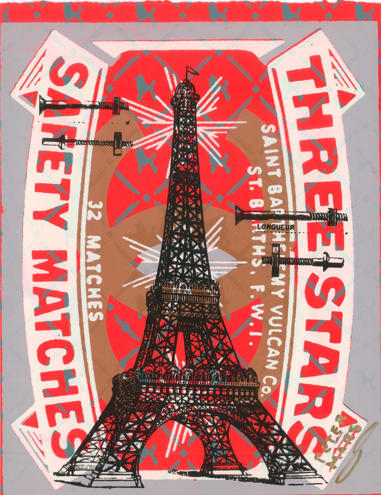 "Iron Lace ,   Peter Mars, American Pop Art, 30x40"""