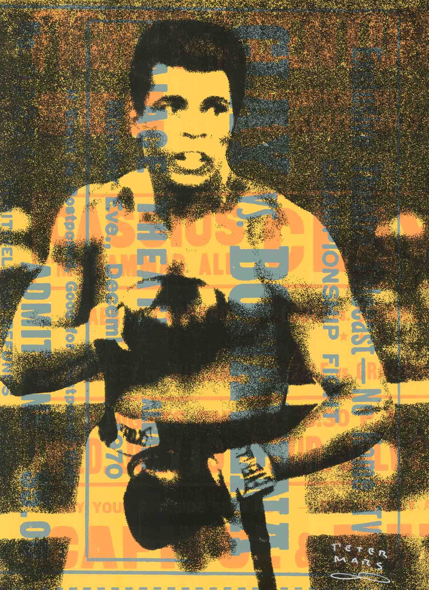 "Muhammad Ali- Rumble , Peter Mars, American Pop Art, 15x20"""
