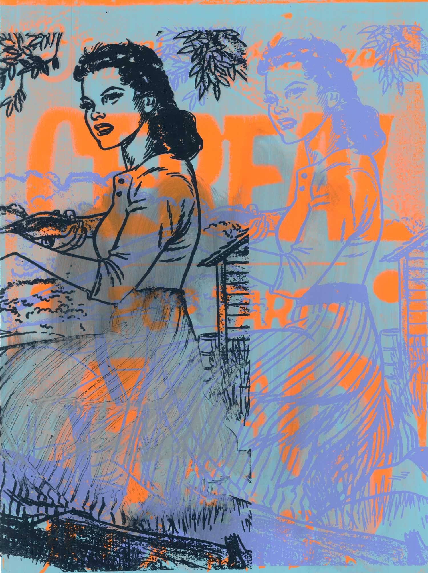 """Wildcat , Peter Mars, American Pop Art, 30x40"""""""
