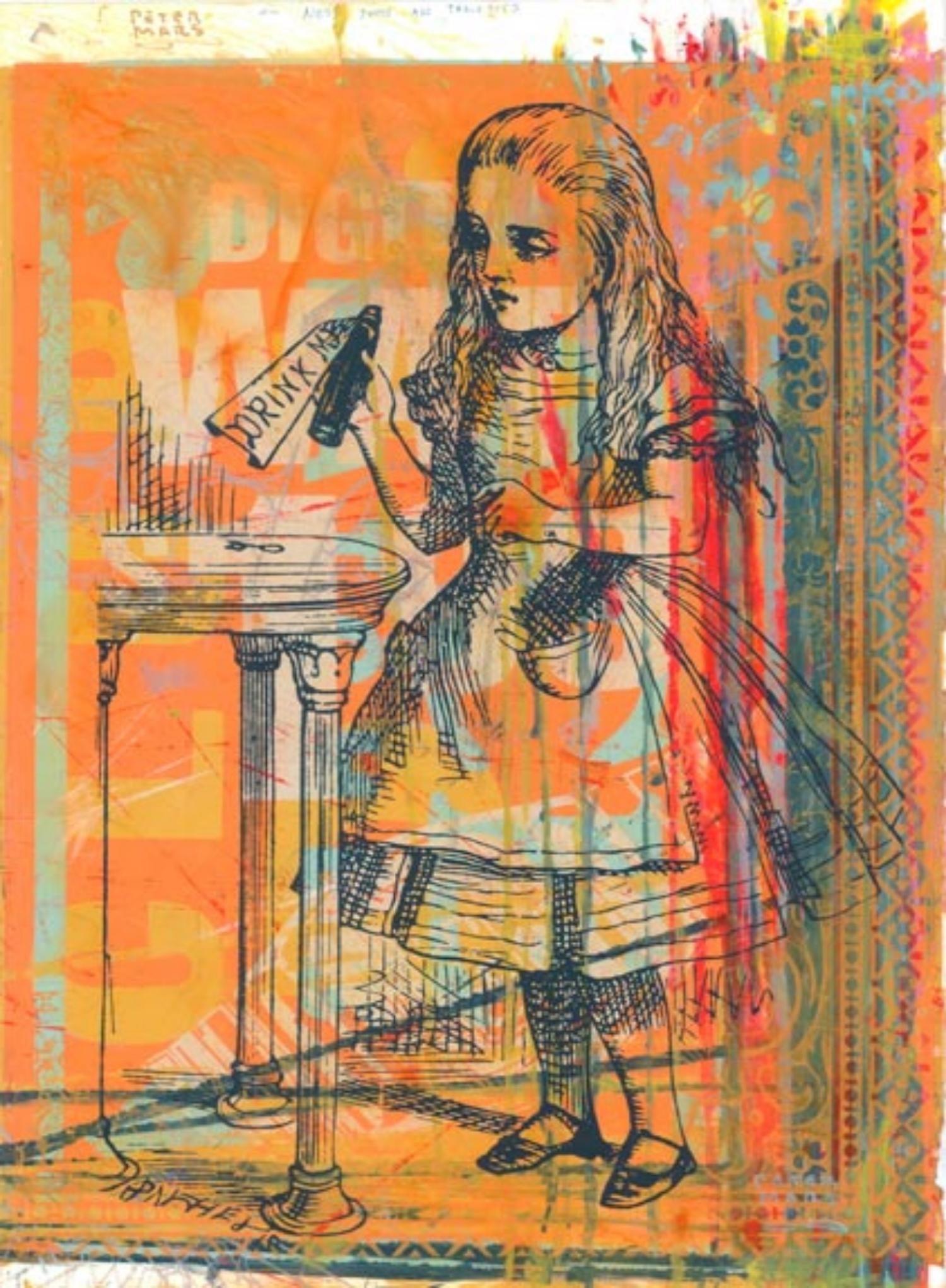 """Drink Me ,   Peter Mars, American Pop Art, 30x40"""""""