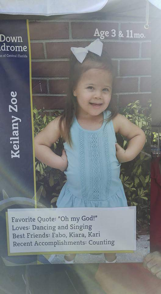 """What a get-it-done kid.  Meet 3 year old, Keilany. Her favorite quote is """"Oh my God!"""". And she loves singing and dancing.  Her recent accomplishment. Counting.  What a get-it-done kid. Fantastic.  As a Central Florida community galvanizing together. Each doing their part.  We get-it-done for our children with special needs.  We have some terrific kids in our community. Some with special needs who are fantastic kids.  They are amazing. Incredibly talented kids.   Many of them with special needs are in foster care. Too many of our adult youth with special needs leave foster care homeless.   Keilany got it done. She is counting. She just got that (bleep) done.  Nobody raised their hand and said, """"Well, what about her special needs? What about the lack of resources?""""  Naaaa. There's resources. We'll get her counting. Let's get-it-done.  Parents. Teachers. Instructors. Specialists. Family support. Coalitions. Groups.  And maybe a neighbor or two in the community who brought over a pie.  They just got it done.  No excuses. No voting about it. No 5 year strategic plan. No bickering and moaning about special needs resources.  No boring fundraisers with cucumber sandwiches. With the sides sliced off. No car washes.  No chocolate fountains to stick chunks of pineapple on skewers into the chocolate waterfall.  They just got it done.  As a Central Florida community galvanizing together. Each doing their part.  We get-it-done for our children with special needs.  What a get-it-done kid : )"""