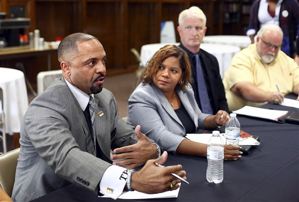 """Eighteen community leaders came together Thursday to discuss youth homelessness in Toledo and lay the groundwork they believe is necessary to end it.   http://www.toledoblade.com/local/2017/08/24/Community-leaders-discuss-solutions-to-homelessness.html    """"How can we live in such a way and behave in such a way, as a community, where it would be least possible for a child to become a statistic called a homeless child?""""  Dan Rogers, president and chief executive officer of Cherry Street Mission Ministries, asked the room. """"This really needs a conversation that covers a long period of time that is not presently happening in our community.""""  Representatives of Toledo Public Schools, Toledo-Lucas County Homelessness Board, Lucas Metropolitan Housing Authority, and various shelters and churches spent 90 minutes at the Cherry Street Mission's Life Revitalization Center laying the groundwork to answer Mr. Rogers' question.  Toledo Public Schools reported 2,690 homeless students during the 2015-16 school year out of about 22,000 students, state data shows. About 2,000 of those children were living doubled-up, meaning there was more than one family living in one dwelling, said Heather Baker, executive director of pupil placement at TPS. The others reported living in shelters.   TPS this month accepted $400,000 in federal funding from the Ohio Department of Education  as part of the McKinney-Vento homelessness aid law. The one-year grant restores and more than doubles former funding TPS went without for the last two years. Ms. Baker said that money will fund things such as after-school tutors to work with homeless children at shelters like Family House.  Mike Badik, executive director of the Toledo Lucas County Homelessness Board, said his organization tracks homeless youth beyond TPS. In 2016, Lucas County recorded 698 homeless children ages 0-5, 611 ages 6-18, and 264 ages 18-24.  """"Over 45 percent of all the people that are served within our continuum are under the age of 25"""