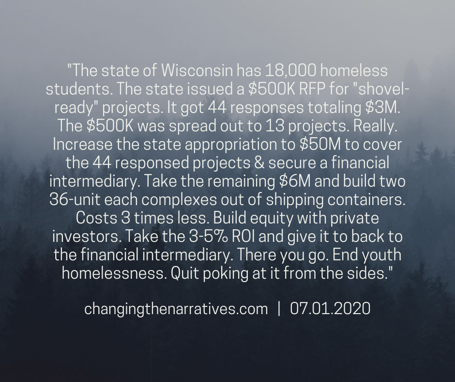 Despite promising efforts, the relentless trauma and indignities of homelessness remain a daily reality for tens of thousands of men, women and children in Wisconsin.  In booming Madison, the homeless live out of vehicles and tents, double up in apartments or motel rooms, or sleep outside on streets lined with posh bars and restaurants surrounding the majestic glow of the Capitol dome. Every day an average of 225 people, including 46 children, seek assistance at The Beacon homeless Day Shelter on Madison's near east side.  In downtown Milwaukee, a tent city of the homeless has spread below a tangle of massive freeway overpasses in a city where 5,163 students in the state's largest school district were homeless in 2018.  The La Crosse Collaborative to End Homelessness has identified 275 adults as homeless, a steady number for eight months. In Green Bay, a shelter helps thousands of homeless annually, with one in five between 18 and 24 years old, leaving advocates concerned about where those young people will be in their 30s and 40s. In Beloit schools, nearly 9% of the student population was homeless last school year.  Also deeply troubling is the striking racial disparity in homelessness in Wisconsin. Blacks account for 6.5 percent of the state population but 39 percent of those receiving homeless services in 2018. The disparity is even worse in Dane County, where blacks comprise 5.1 percent of the population but represent 53 percent of those receiving homeless services last year.   Read the full article here