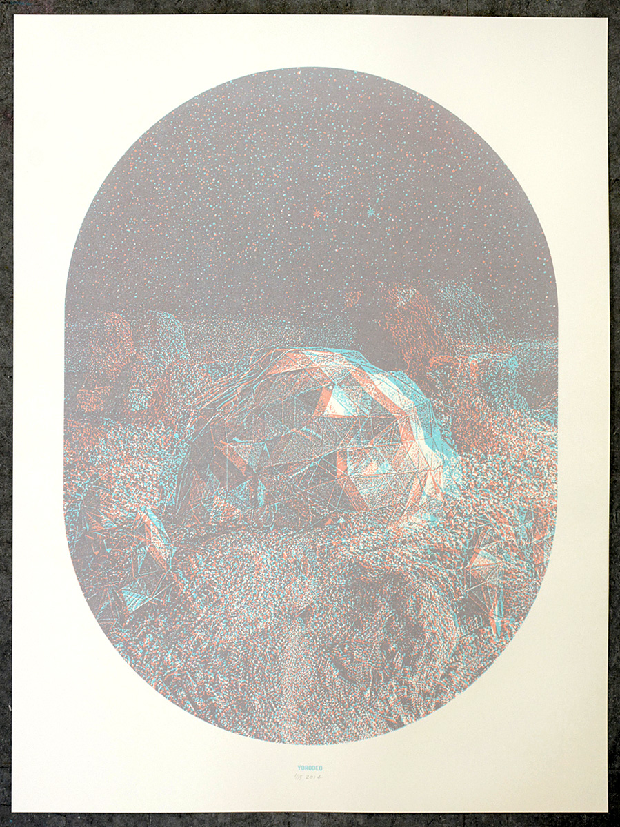 Holodome, 18×24″, edition of 15, 2014, 200.00 CAD, (3-D glasses included)