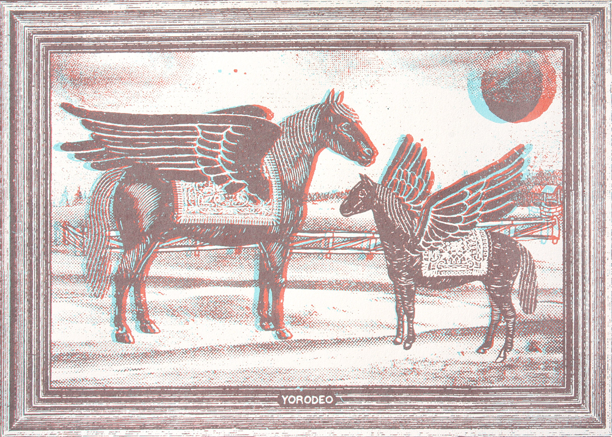 Applewind Ranch, 7×5″, edition of 50, 2010, 50.00 CAD (3-D glasses included)