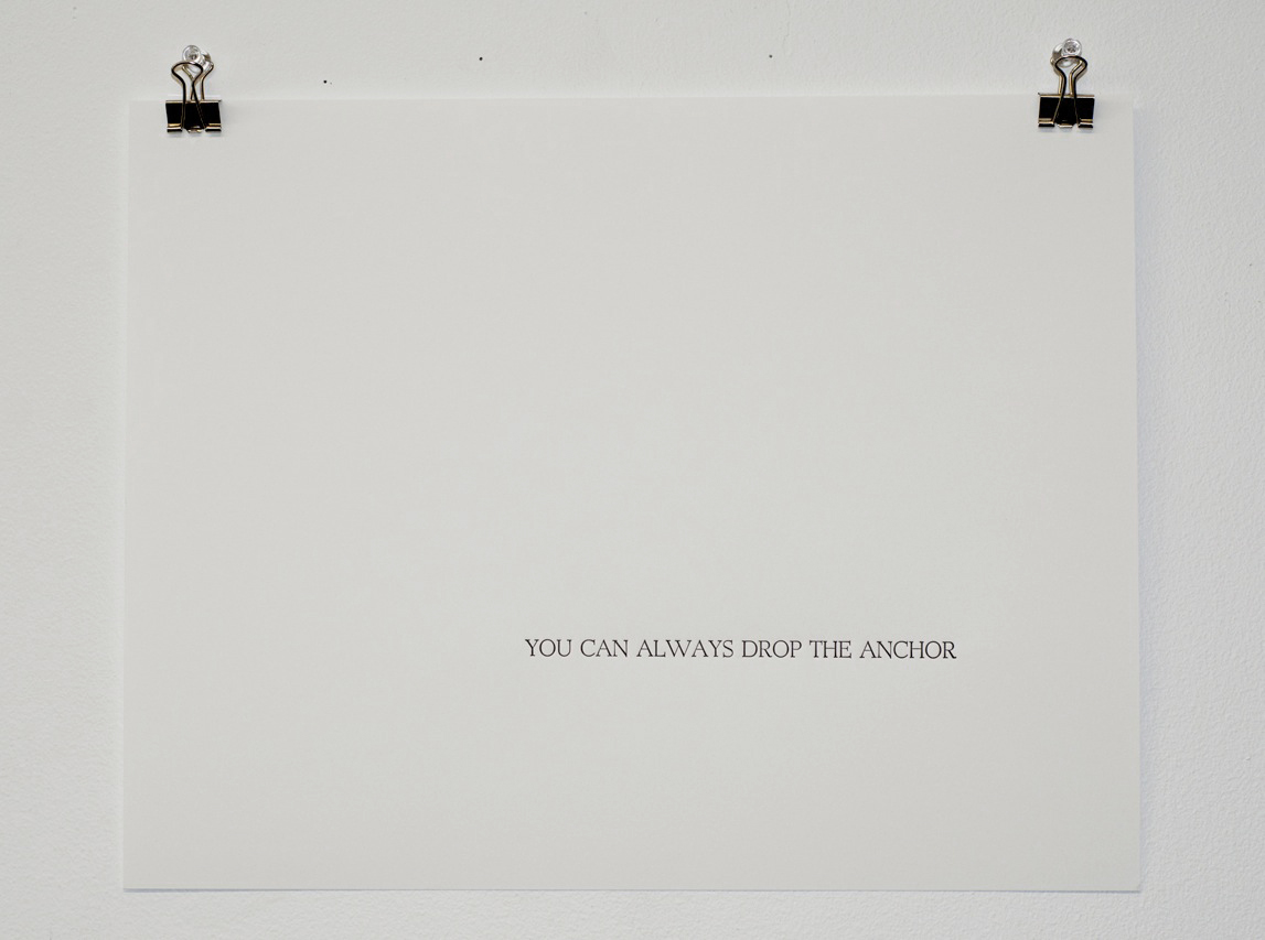 You can always drop the anchor, Letterpress (2 of 3 piece set), 11 x 14 inches, Pack of 3 prints for 300.00 CAD