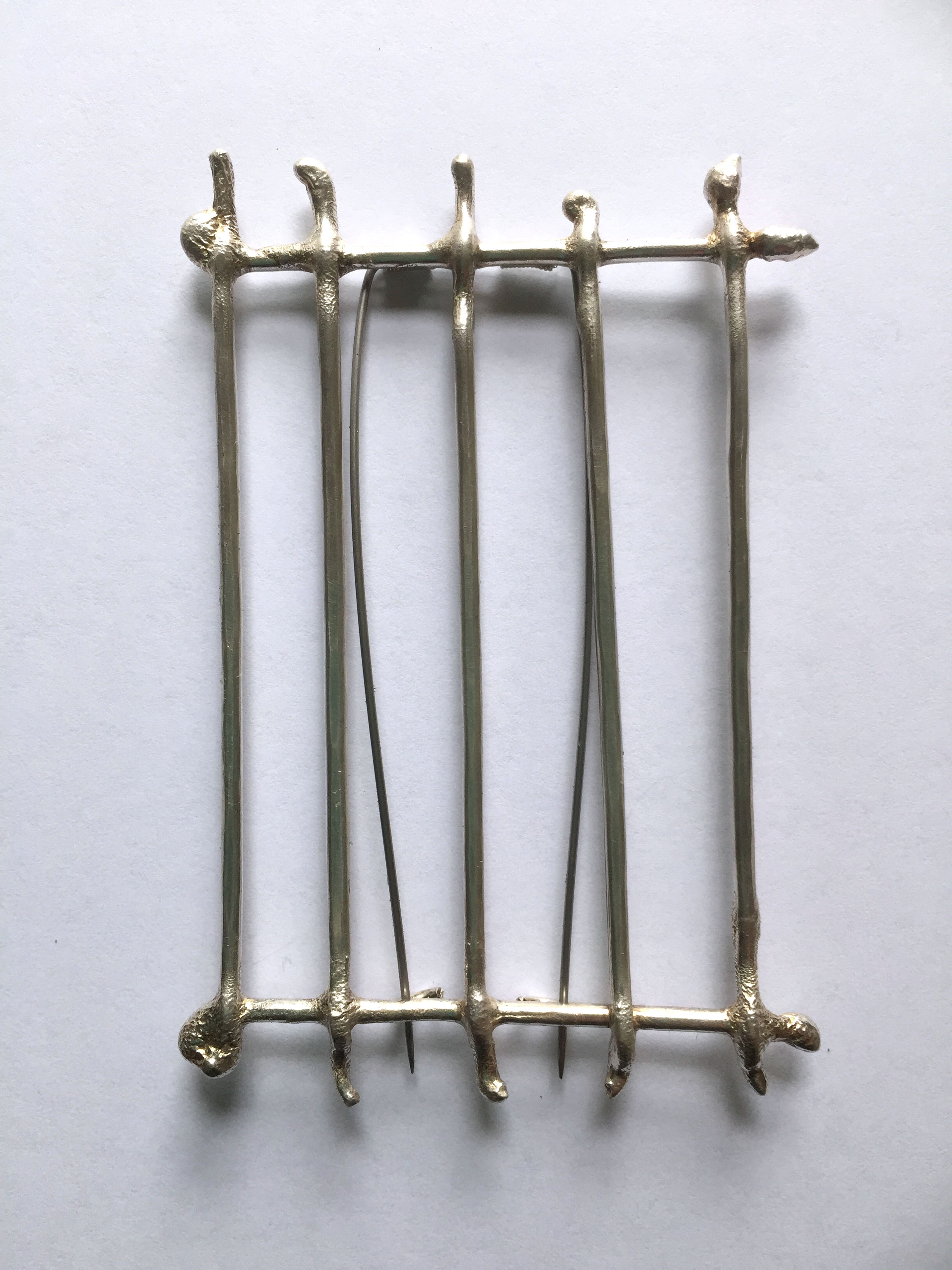 Fence Study #3, brooch, Sterling Silver, 2015, 8 x 5 x 1 cm, 200.00 CAD