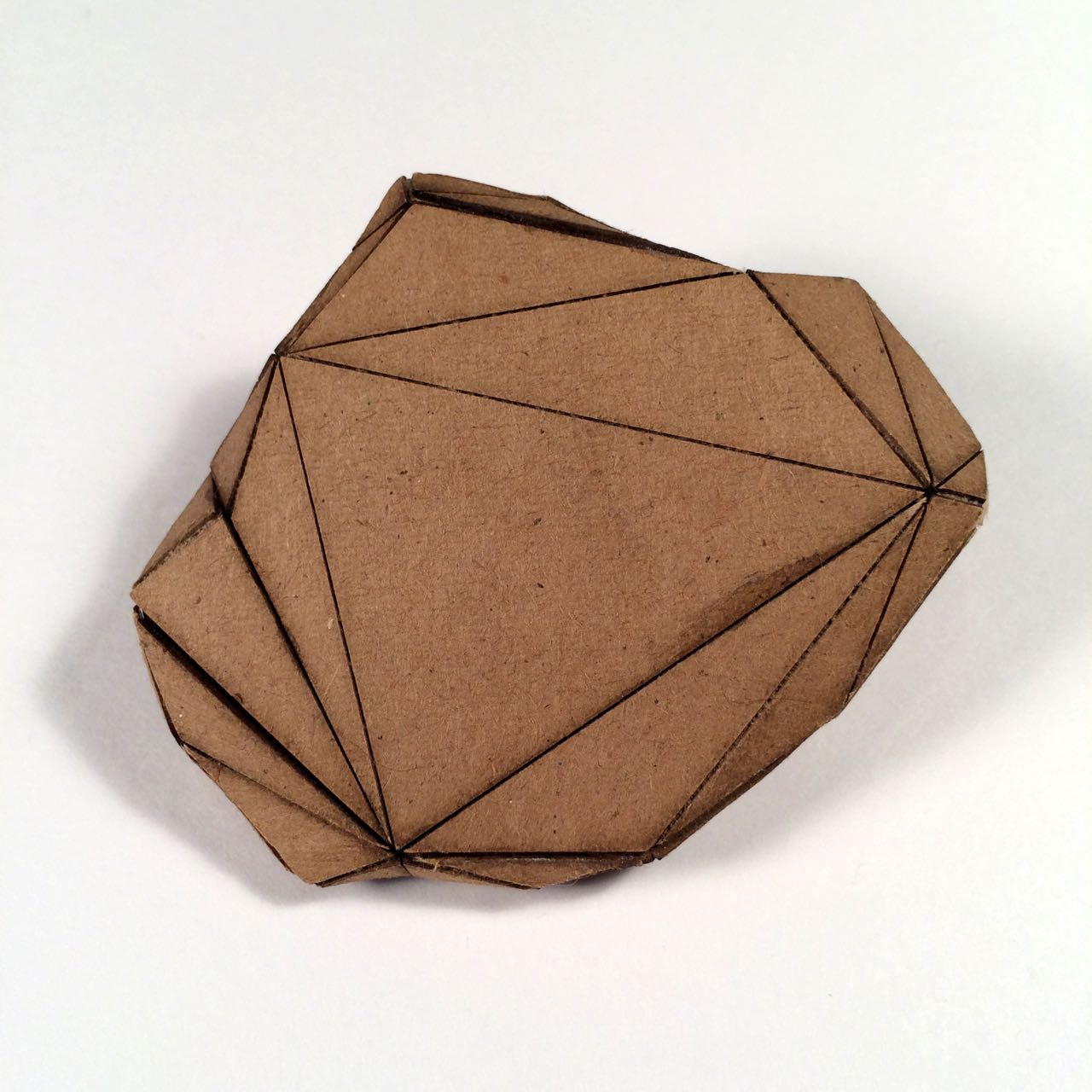 (Back view) 024 - Boxes For Rocks, 2012, laser cut cardboard, found rocks, glue, 9cm x 7cm x 3cm (flat bottom), 250 CAD