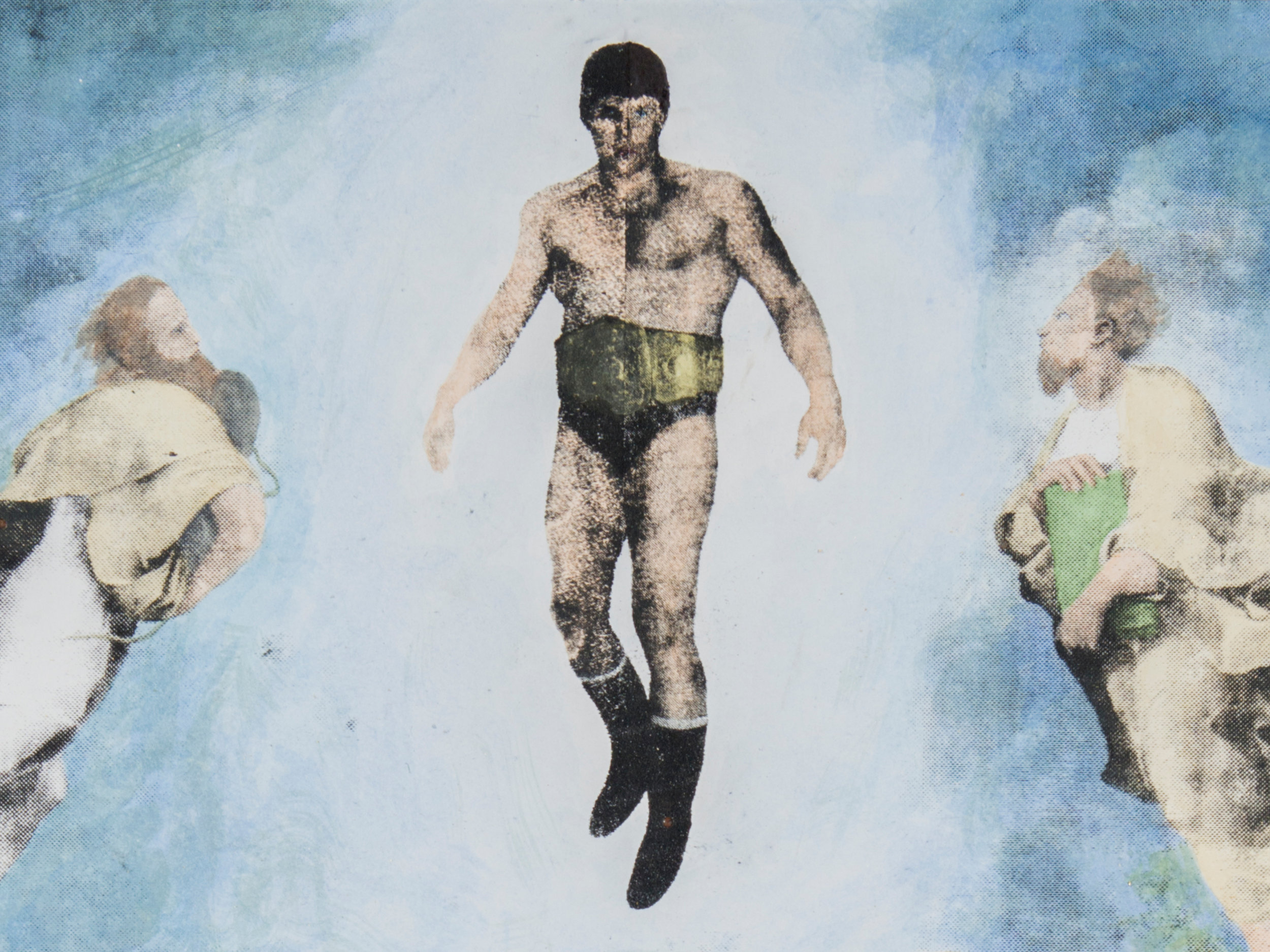"SOLD - La transfiguration de Leo Burke, 2015-2017, 18"" x 24"", screenprint and watercolour on paper, edition of 1, 200CAD"