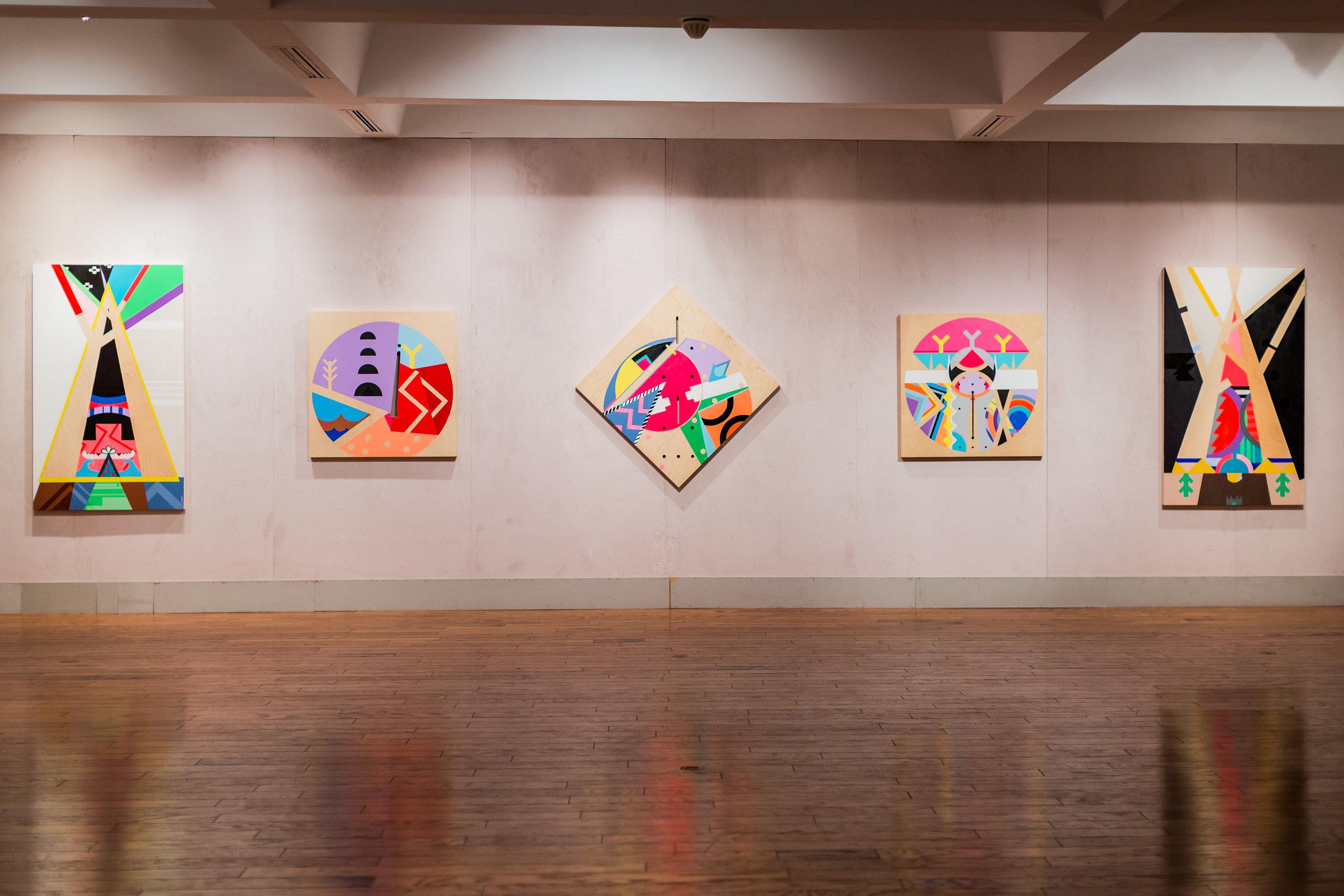 Exhibition view, Grenfell Campus Art Gallery, Corner Brook, 2018
