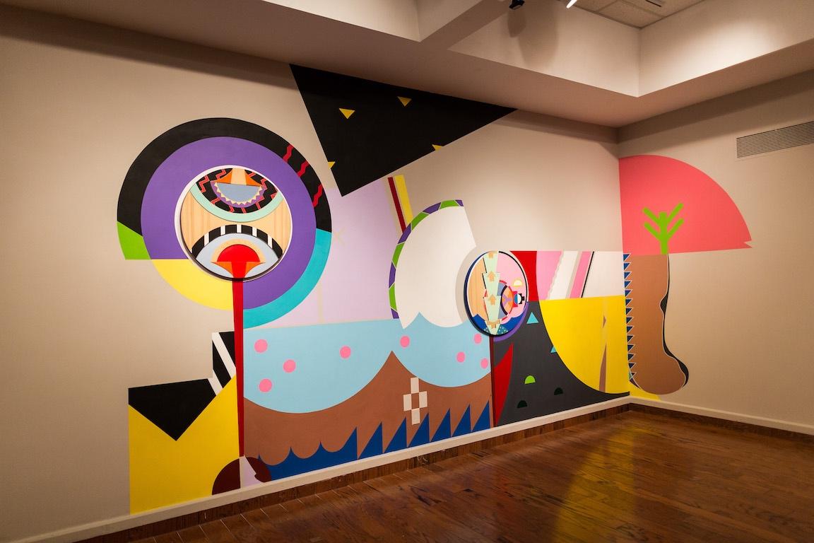 Pitawkewak, 2017, Acrylic on Drywall  Location:Grenfell Art Gallery, Corner Brook, NL for Hewlett Packard Commercial
