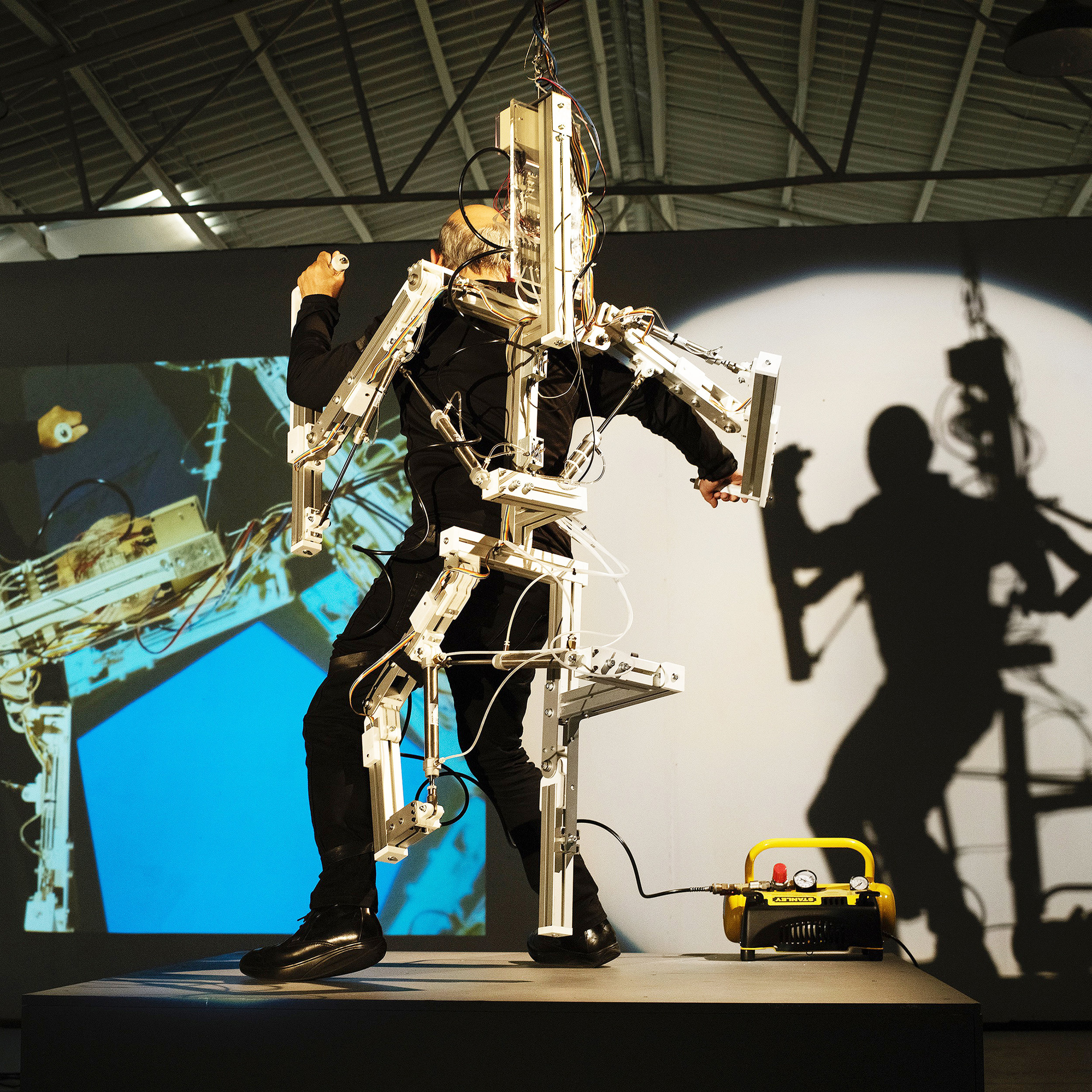 Stelarc's  StickMan  will be exhibiting May 30-June 21 at TellTale Productions