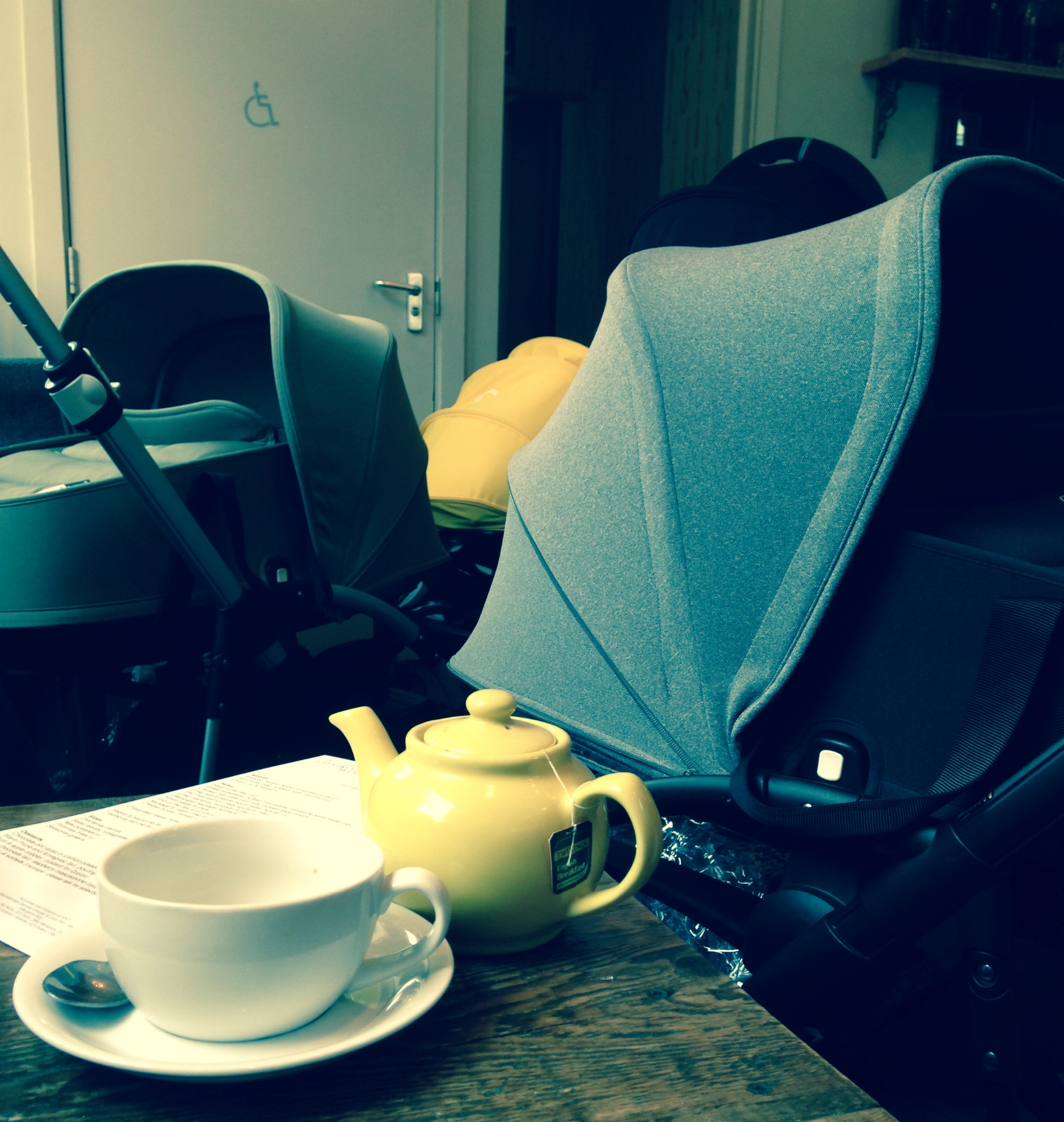 Bugaboo buggy park at the Crooked Well