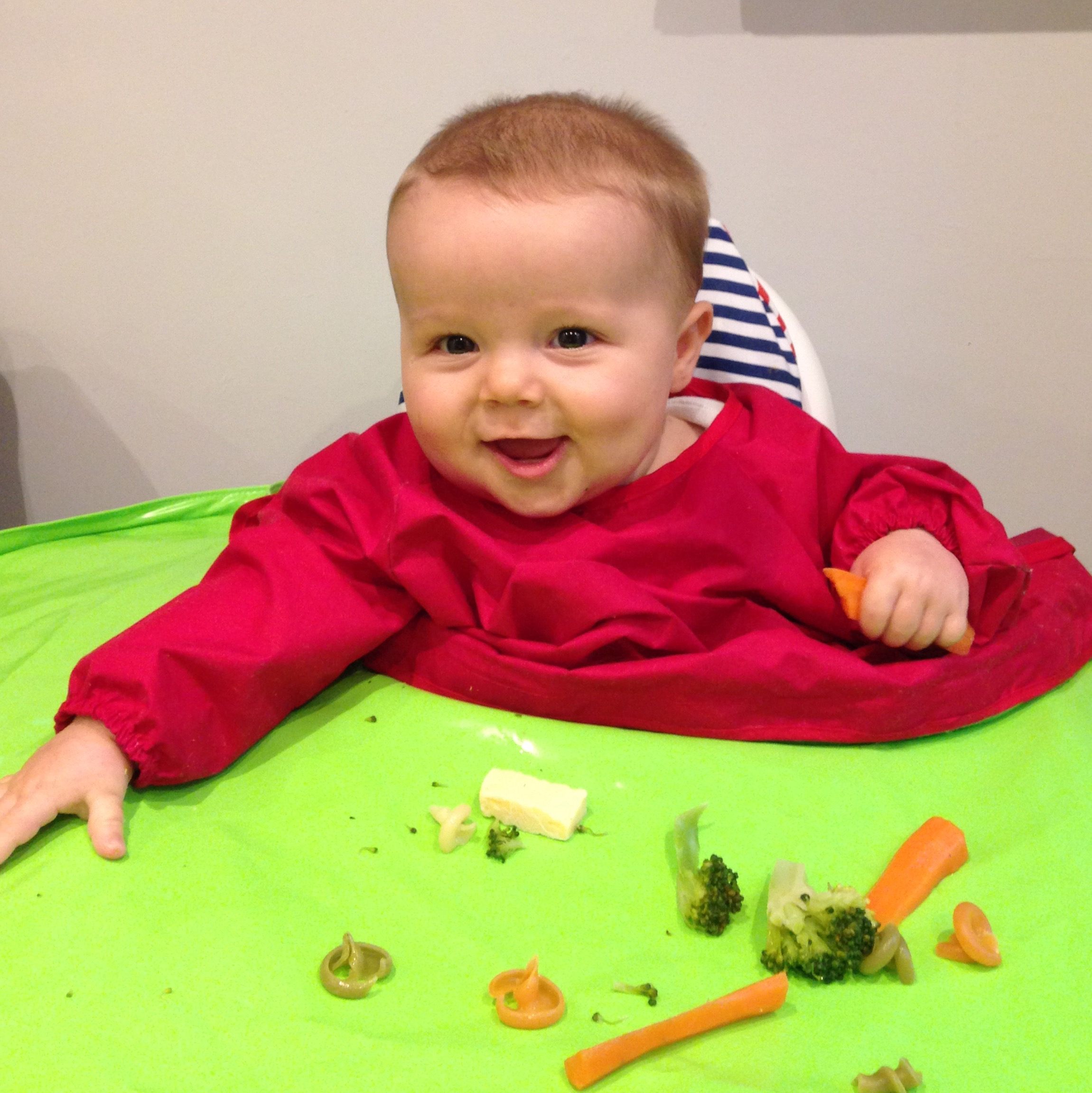 William testing out the Tidy Tot