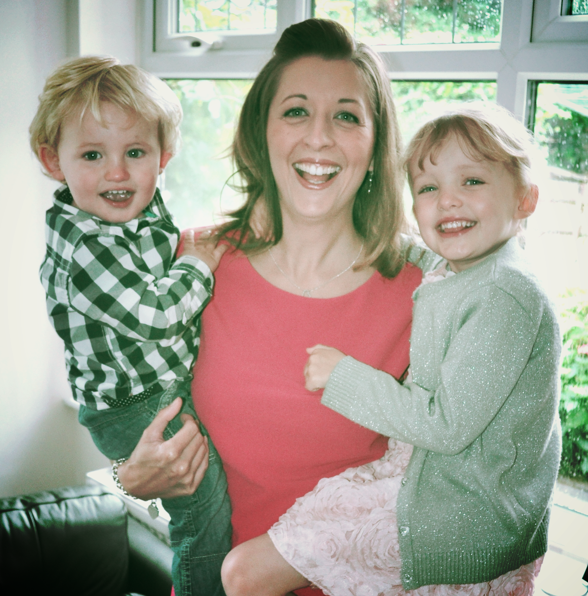 Jennifer with her two children, Chloe and Tom