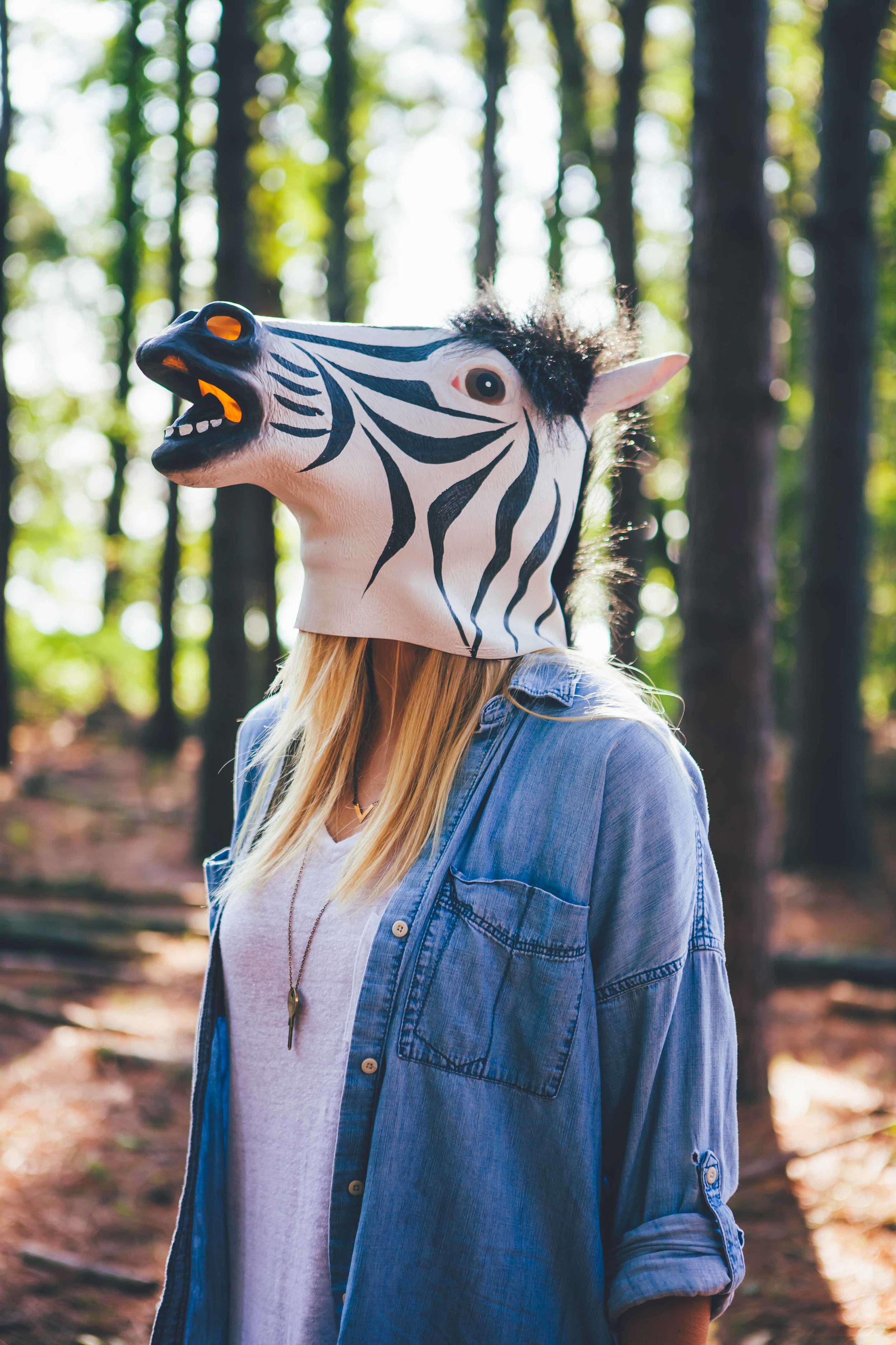 This zebra mask headshot became a team favorite and is used on their printed marketing materials!